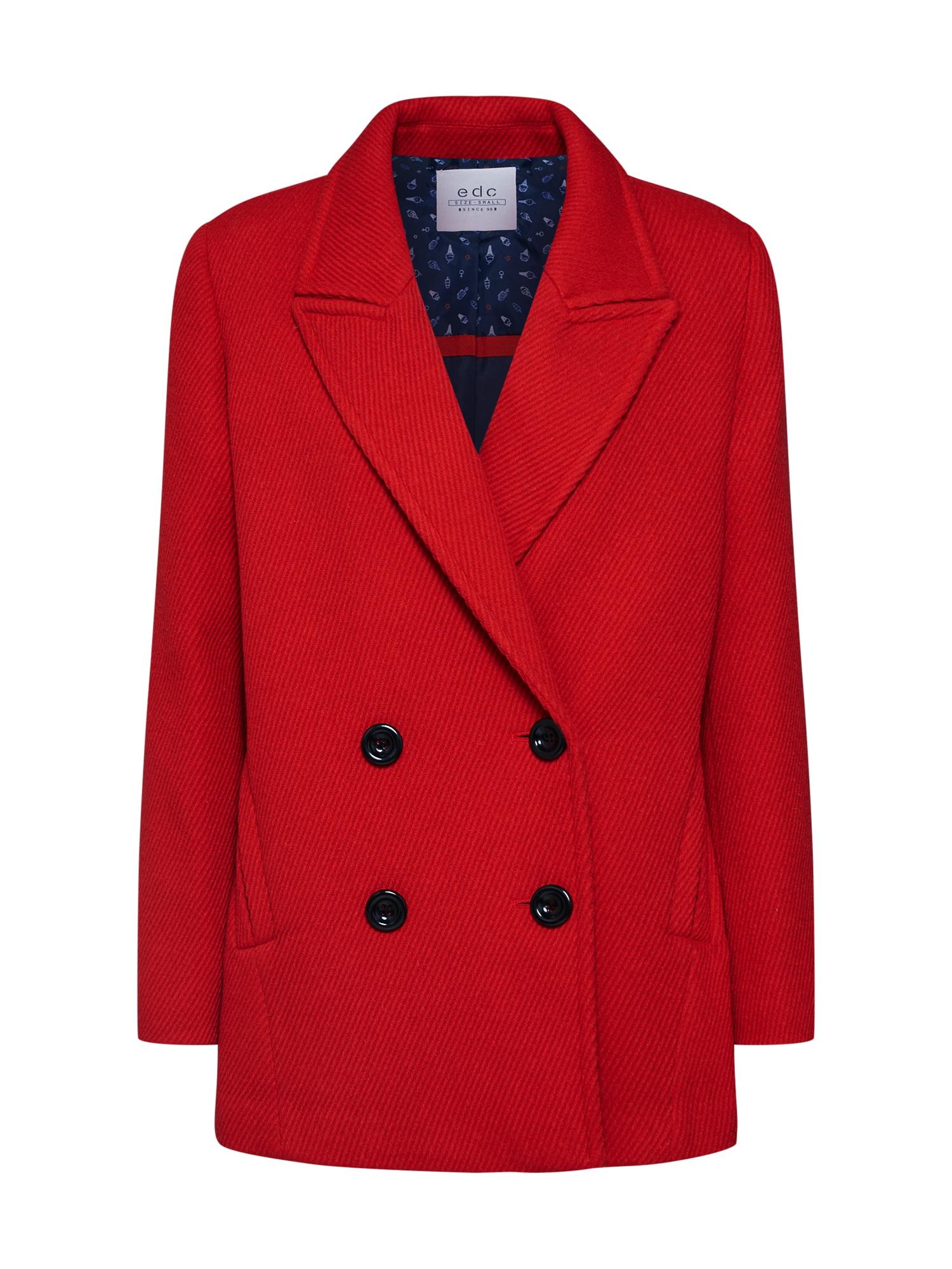 EDC BY ESPRIT Přechodný kabát  červená