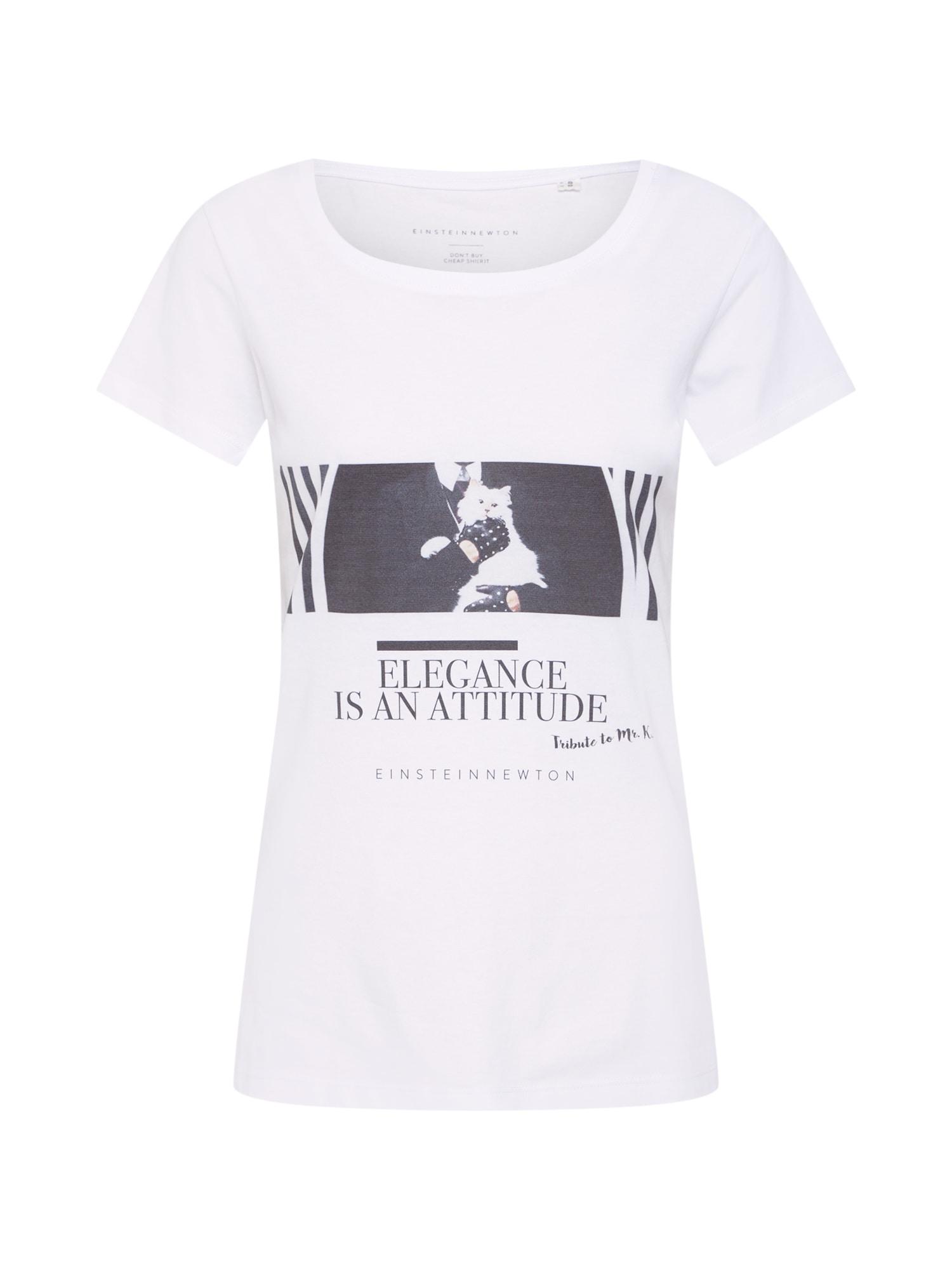 Tričko bílá EINSTEIN & NEWTON