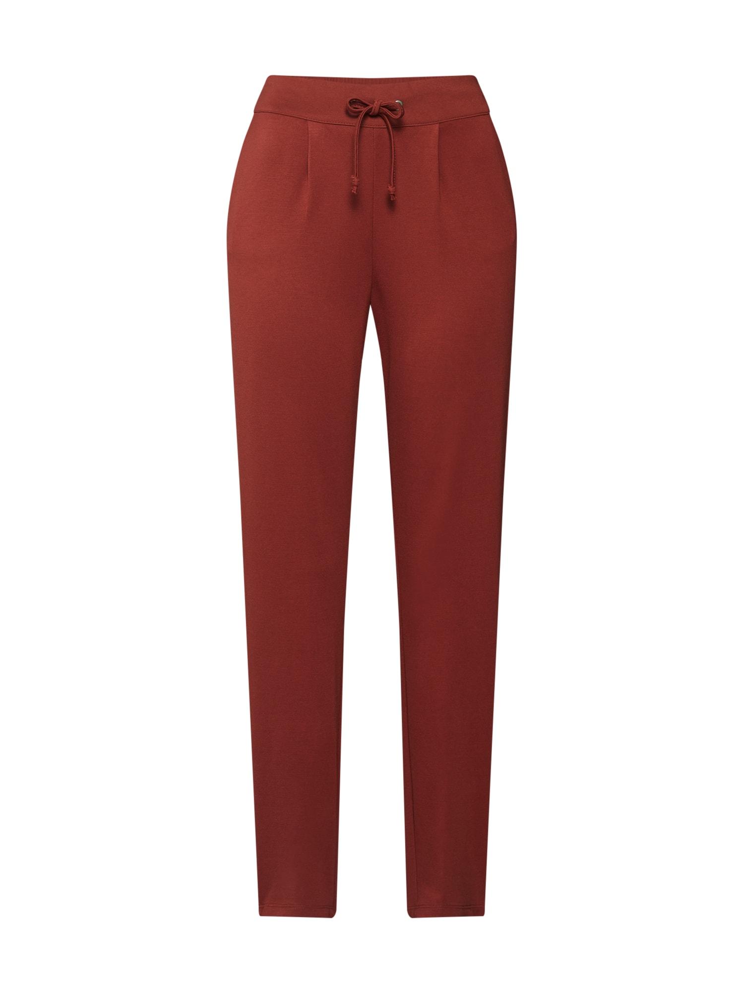 Kalhoty se sklady v pase PRETTY rezavě hnědá JACQUELINE De YONG