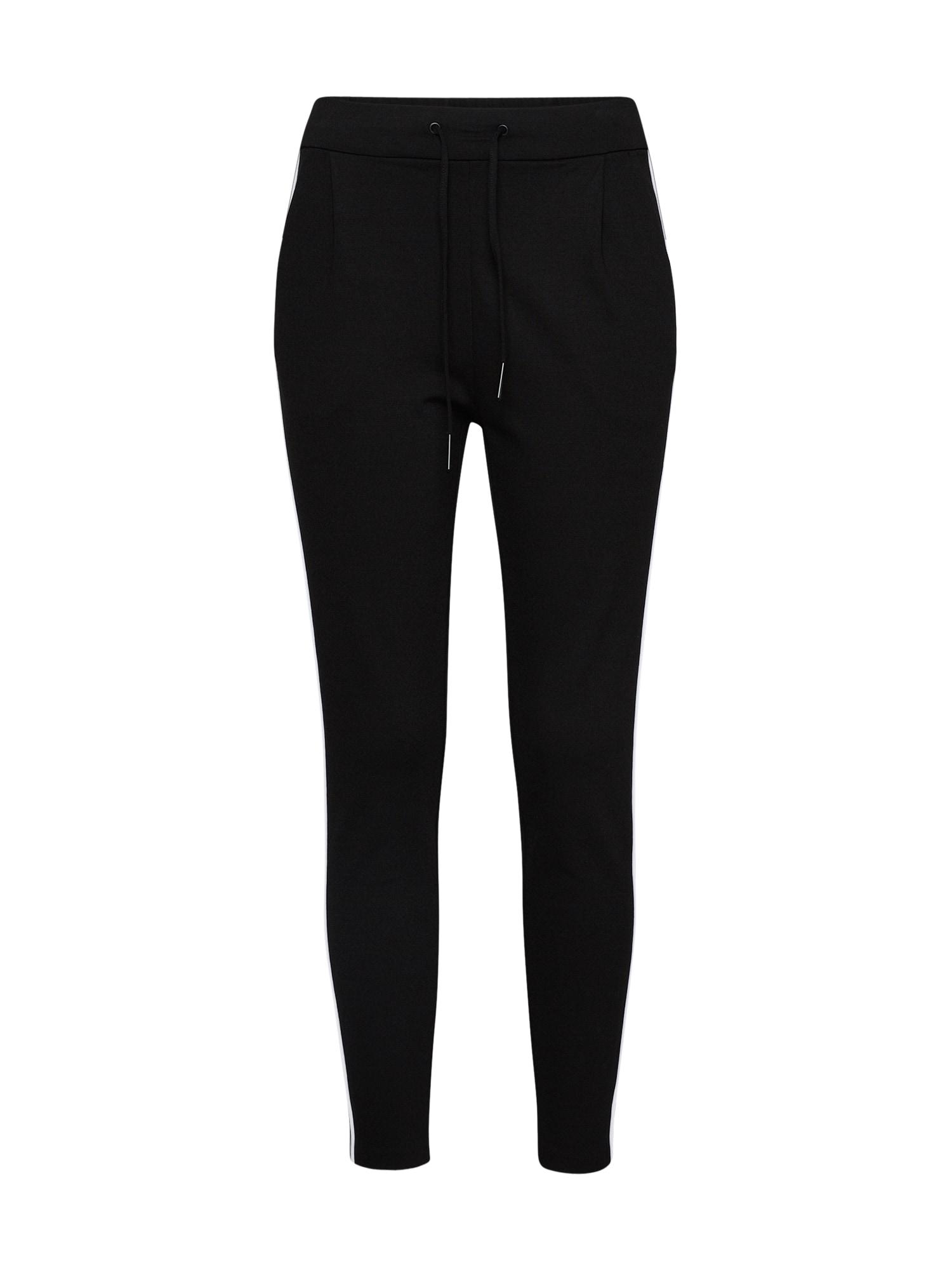 Kalhoty schwarz weiß VERO MODA