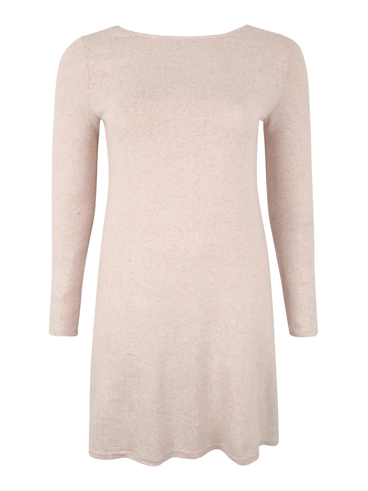 Úpletové šaty INDIA béžová růžová ONLY Carmakoma