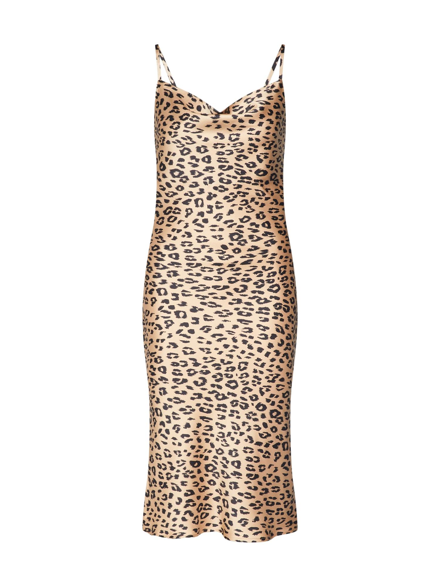Šaty béžová Bardot