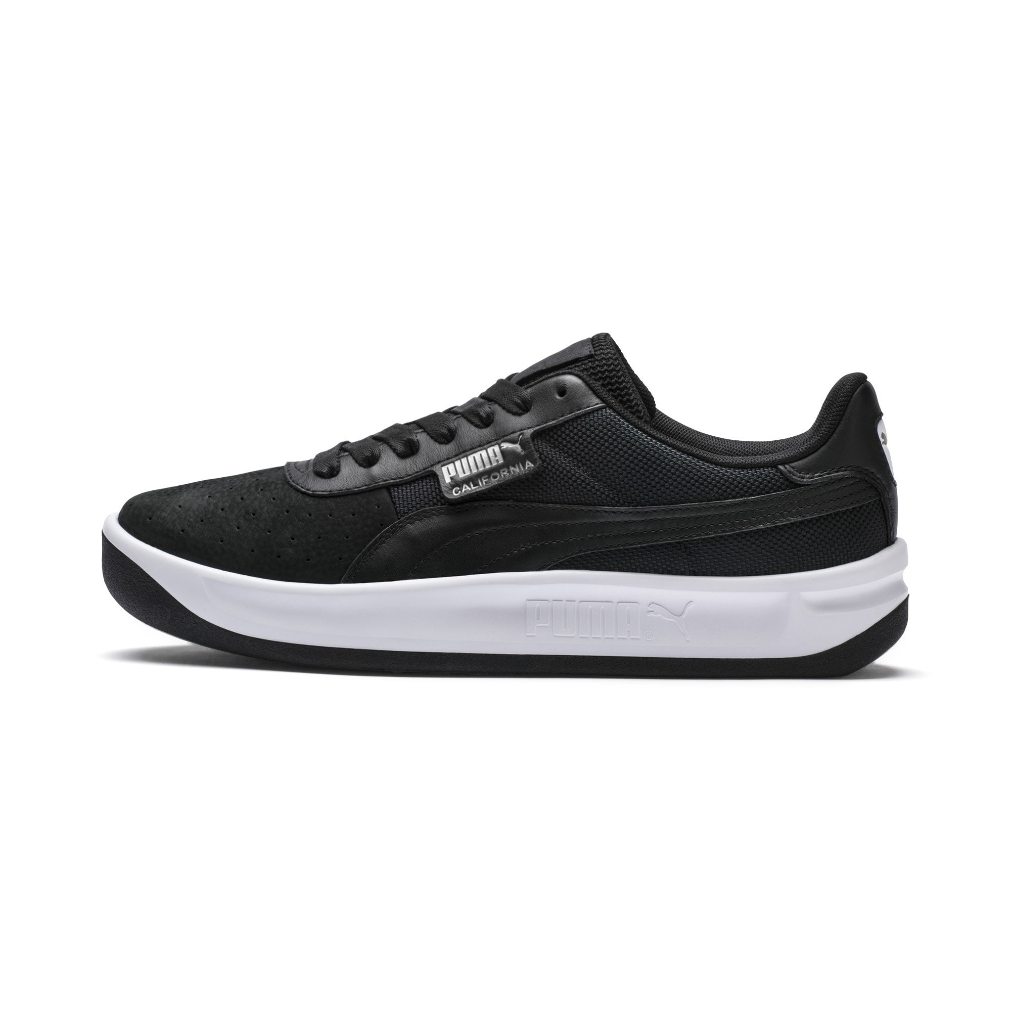PUMA, Heren Sneakers laag 'California', zwart / wit