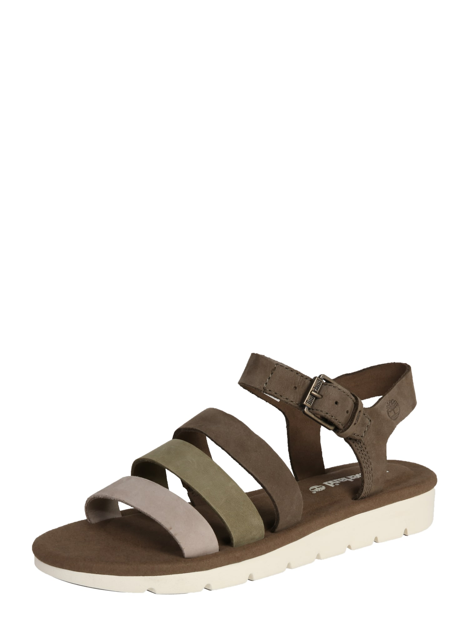 Páskové sandály světle šedá olivová TIMBERLAND