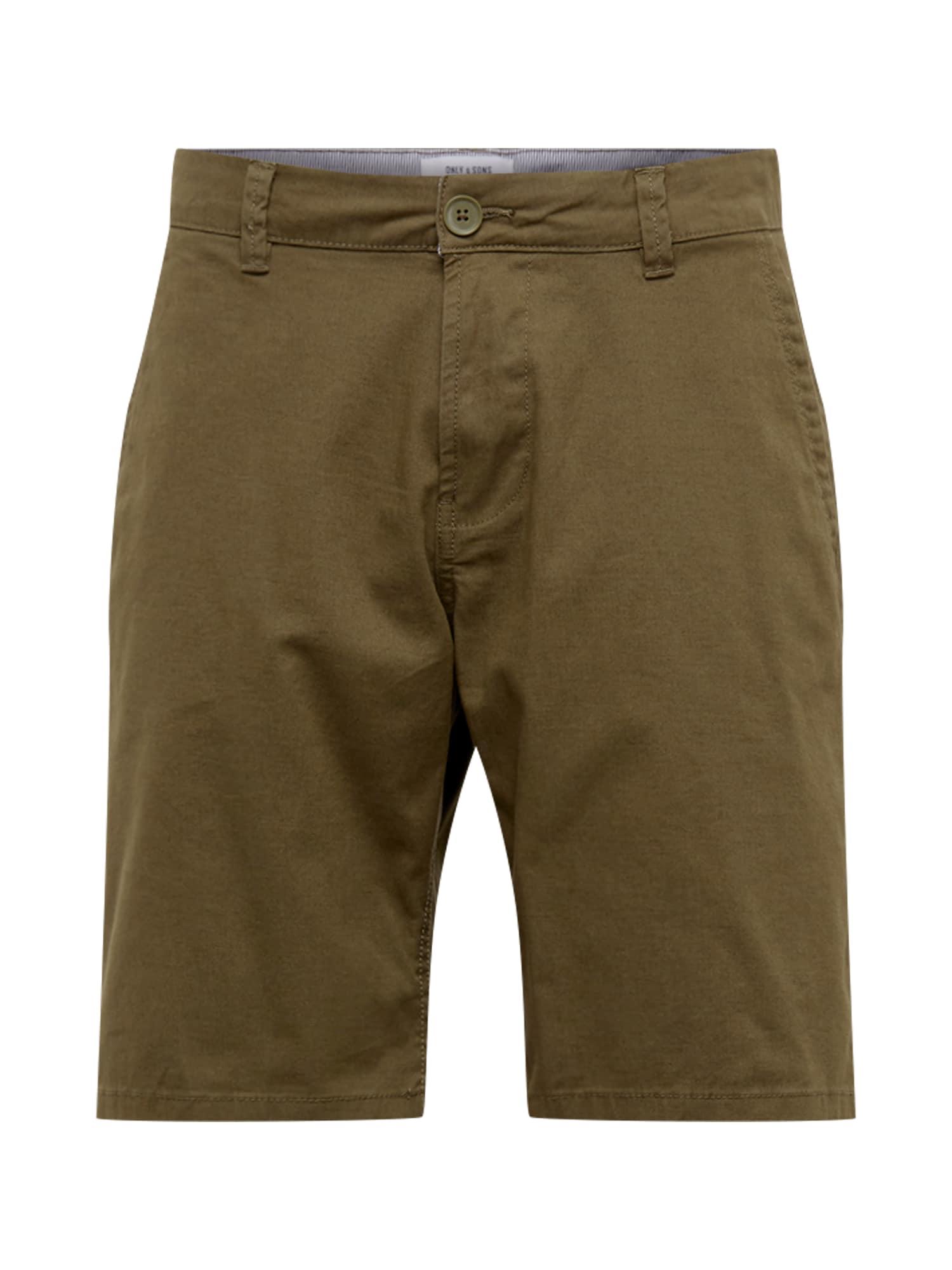 Chino kalhoty CAM olivová Only & Sons