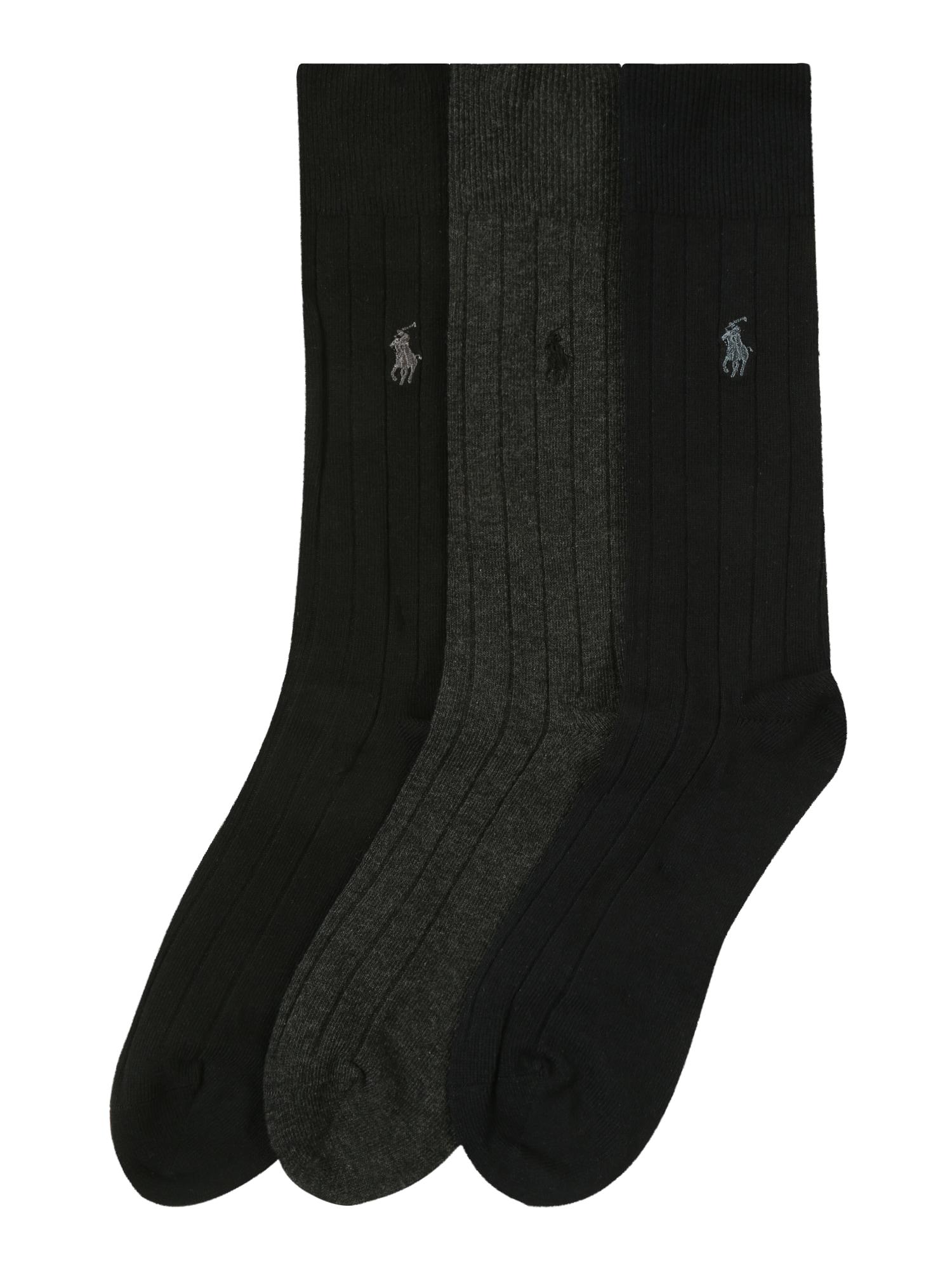 Ponožky DRESS SLACK šedá černá POLO RALPH LAUREN