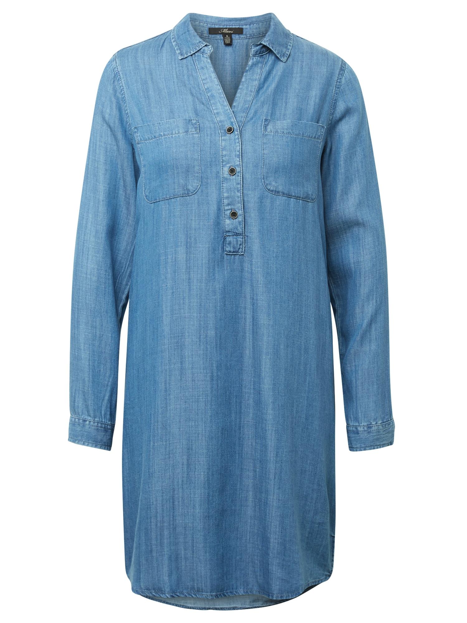 Košilové šaty DENIM DRESS modrá džínovina Mavi