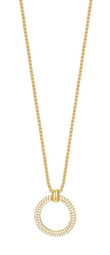 Halskette, mit Zirkonia, »ESPRIT-JW50059 gold, ESNL03009B420«