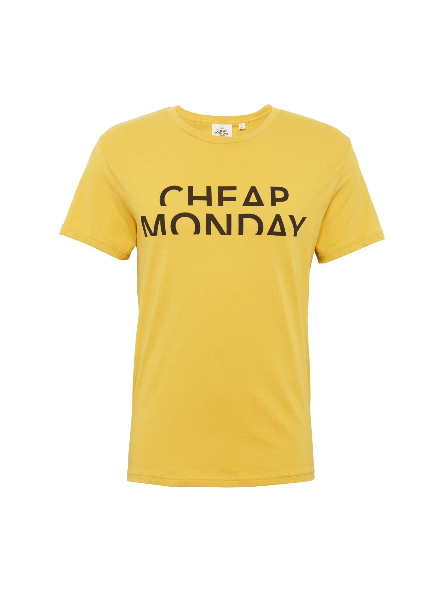 CHEAP MONDAY Heren Shirt Standard tee Spliced cheap mosterd zwart
