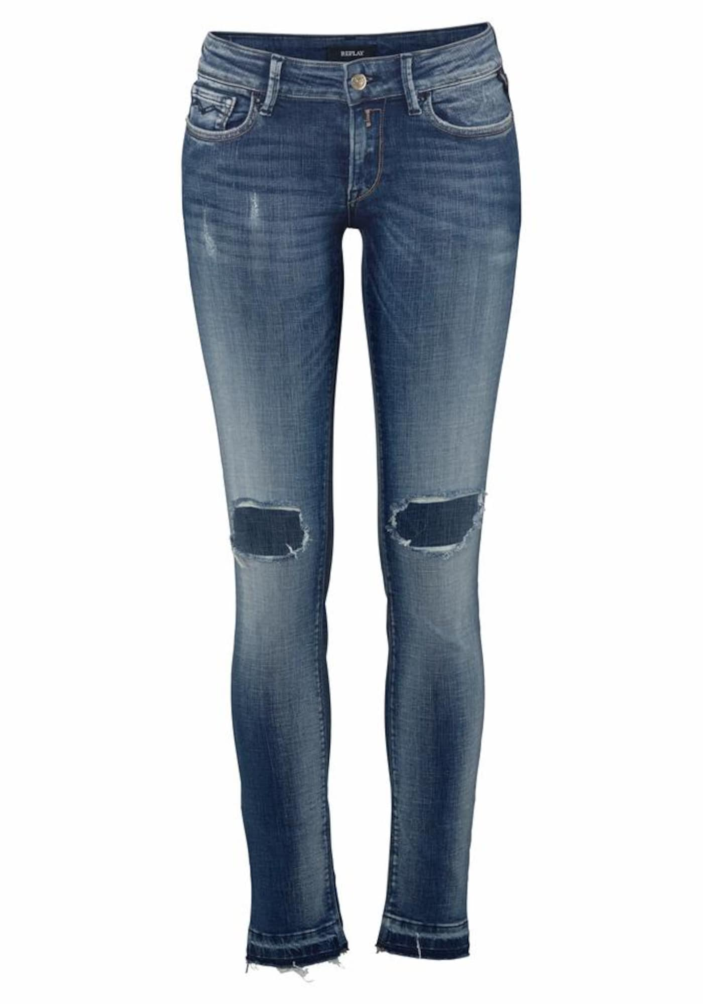 REPLAY Dames Jeans blue denim