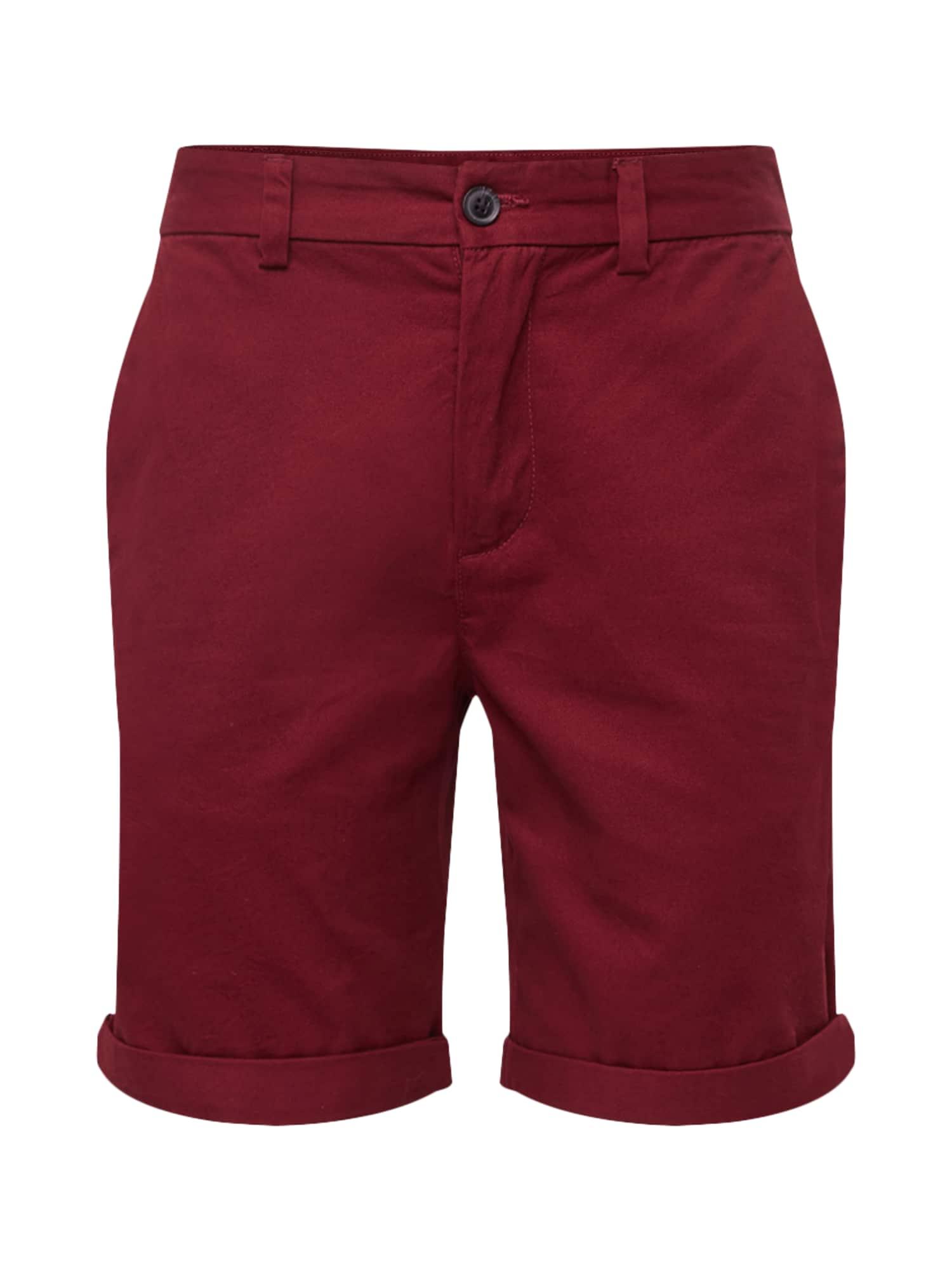 Chino kalhoty burgundská červeň NEW LOOK
