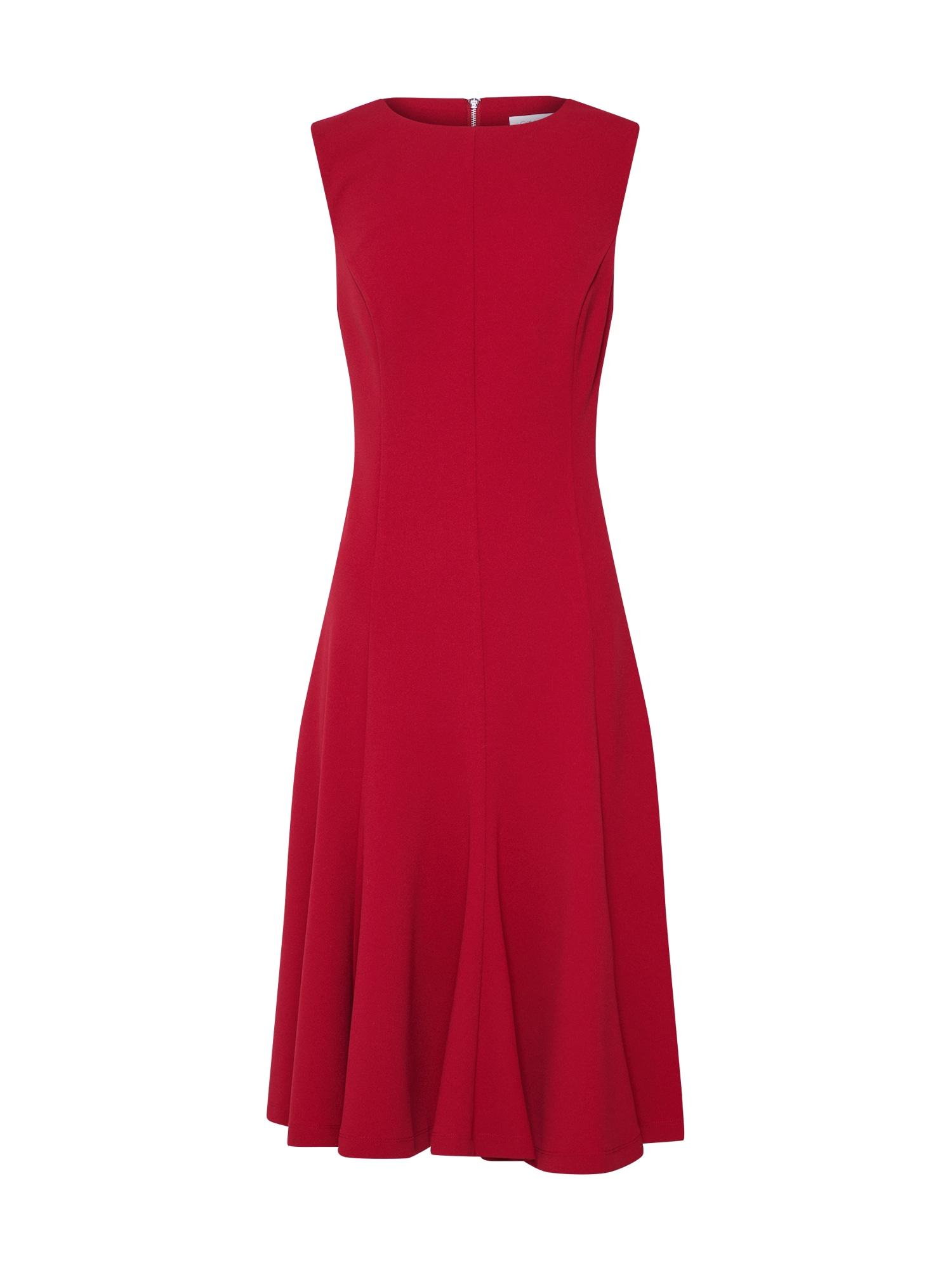 Calvin Klein Sukienka koktajlowa 'FIT AND FLARE DRESS NS'  czerwony