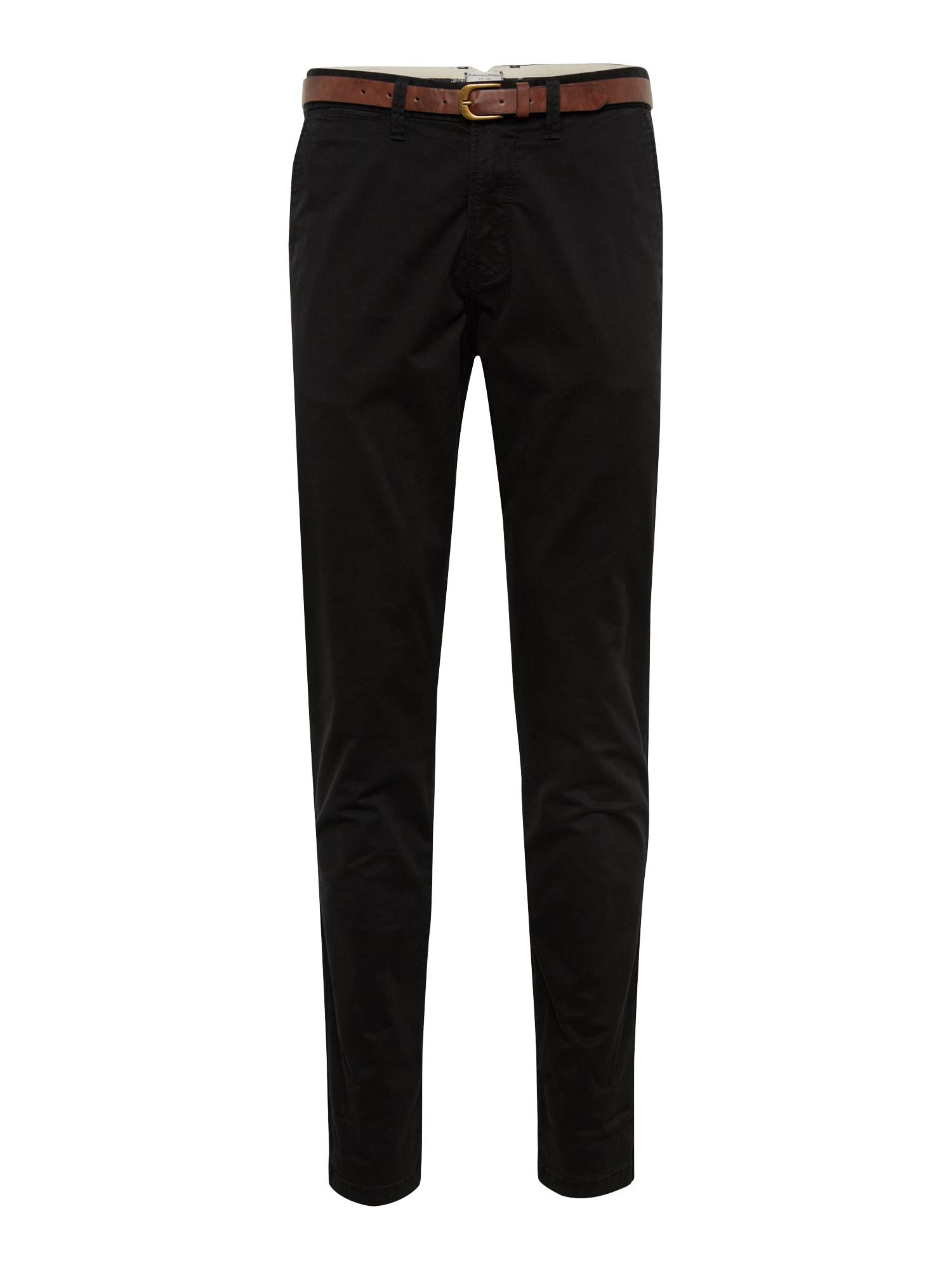 Chino kalhoty CODY JJSPENCER koňaková černá JACK & JONES