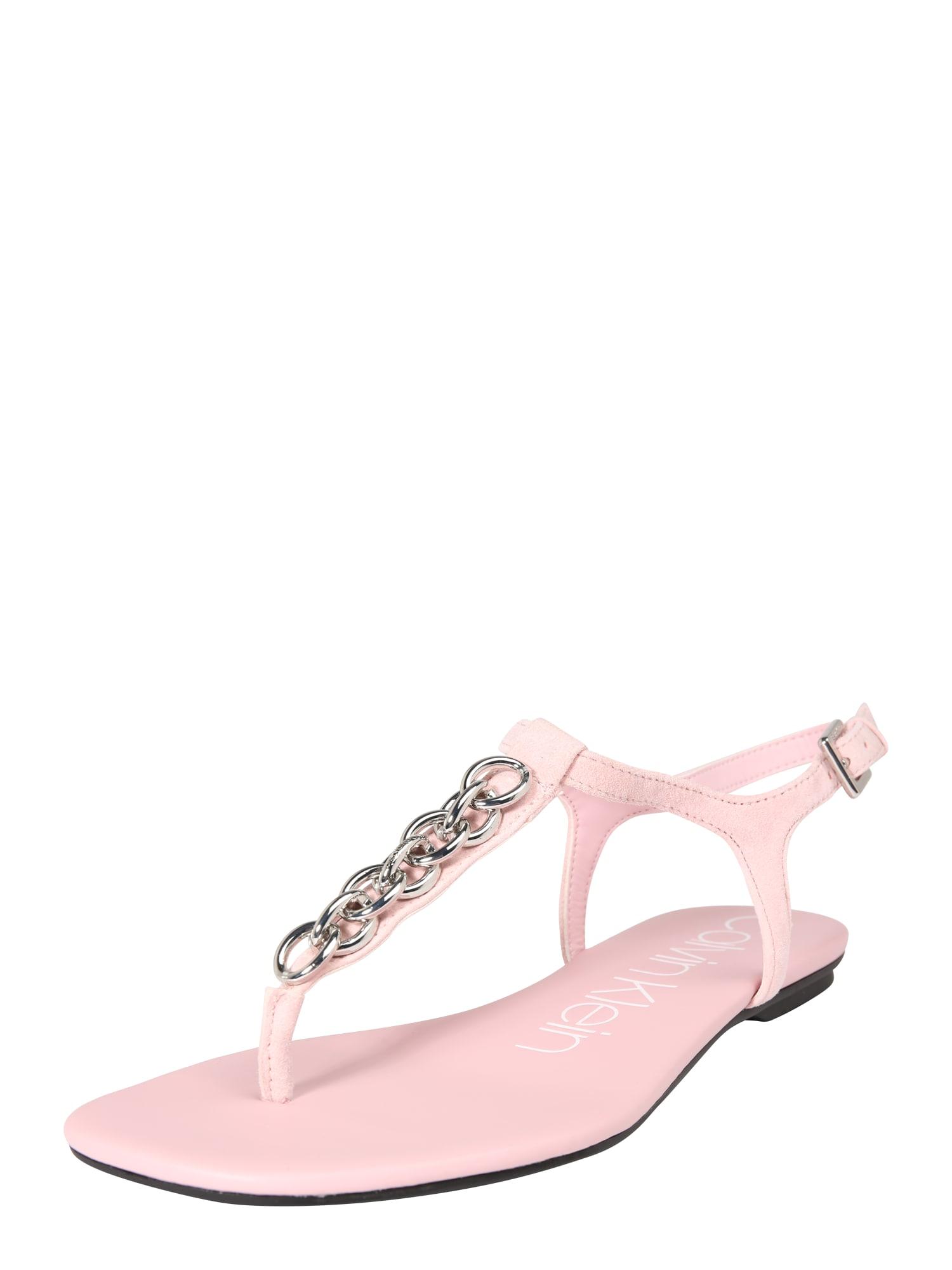 Žabky SILVA růžová Calvin Klein