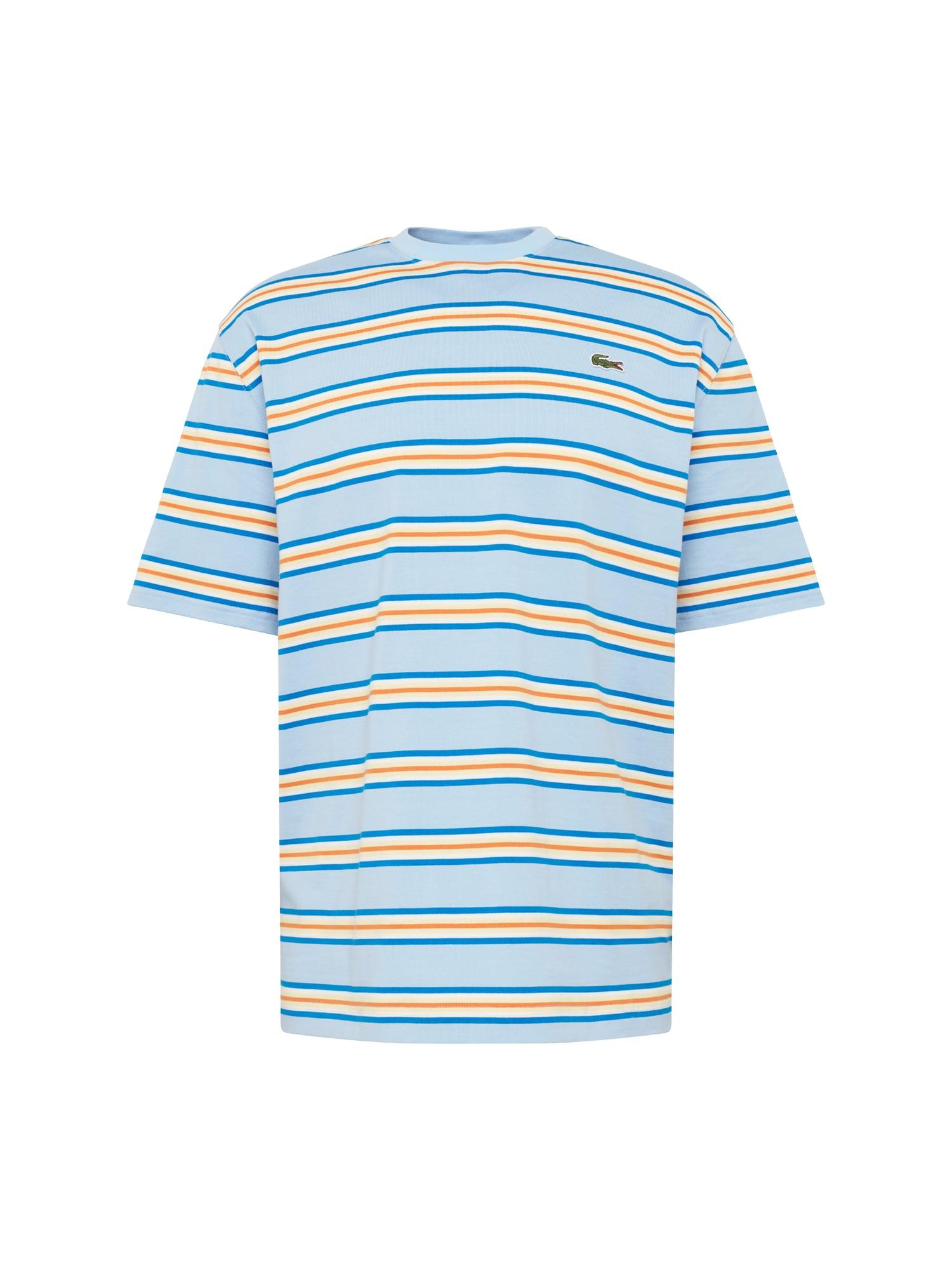Tričko světlemodrá žlutá Lacoste LIVE
