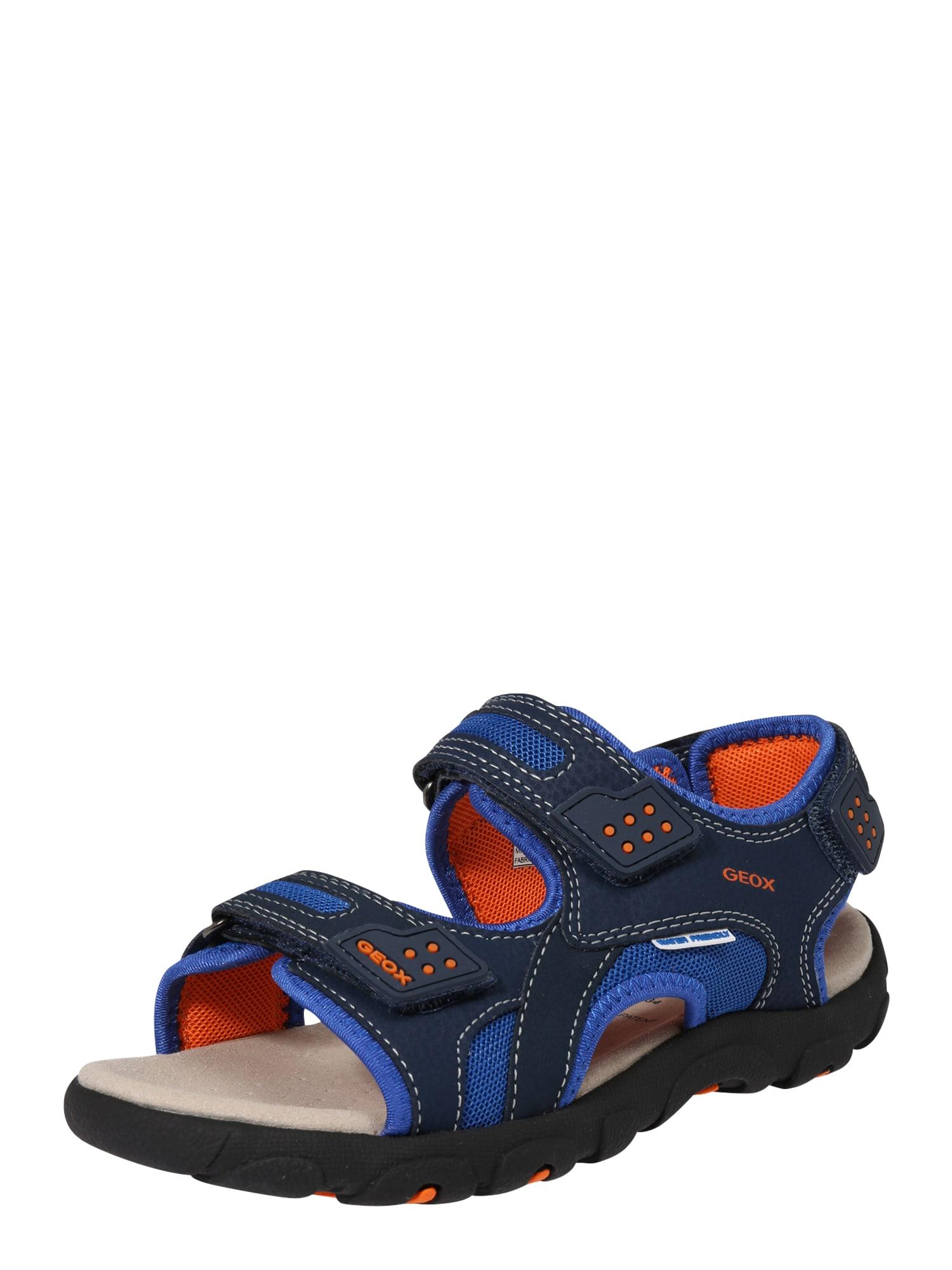 Otevřená obuv modrá tmavě modrá tmavě oranžová GEOX