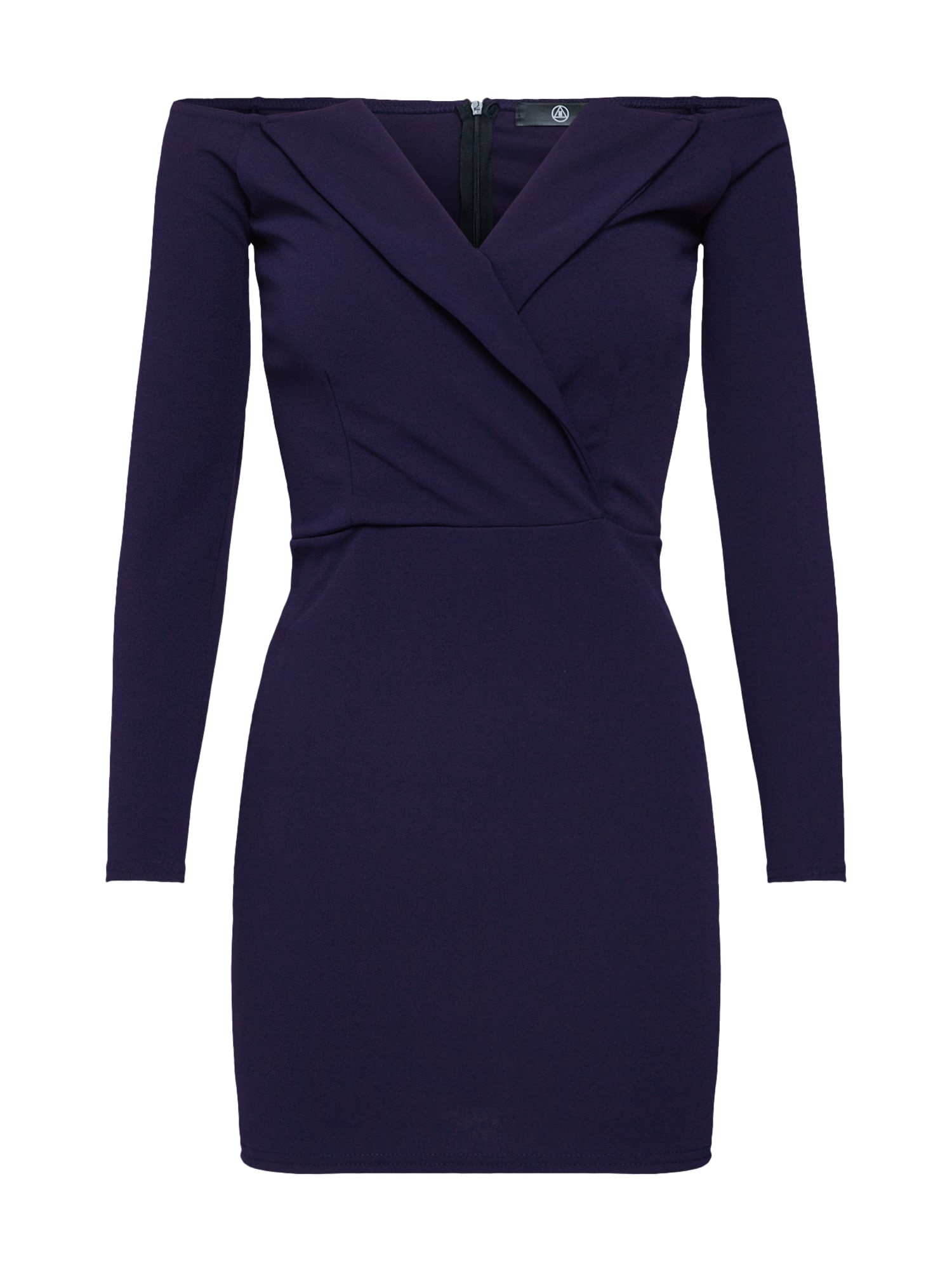 Šaty BARDOT FOLDOVER MINI DRESS tmavě modrá Missguided