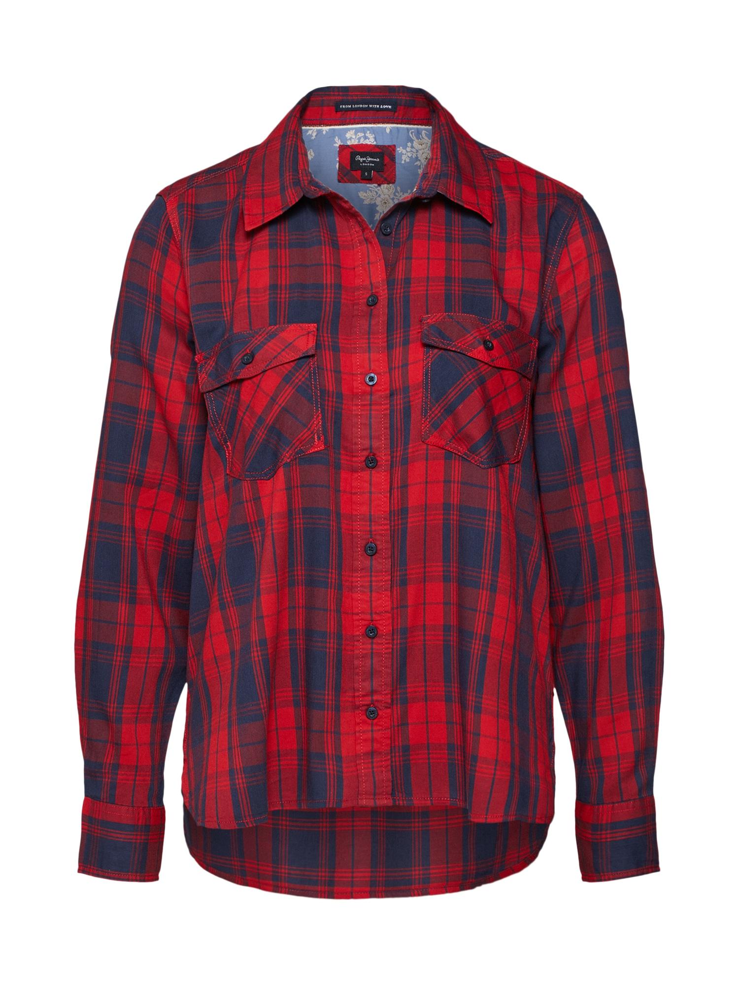 Halenka MEMPHIS tmavě modrá červená Pepe Jeans