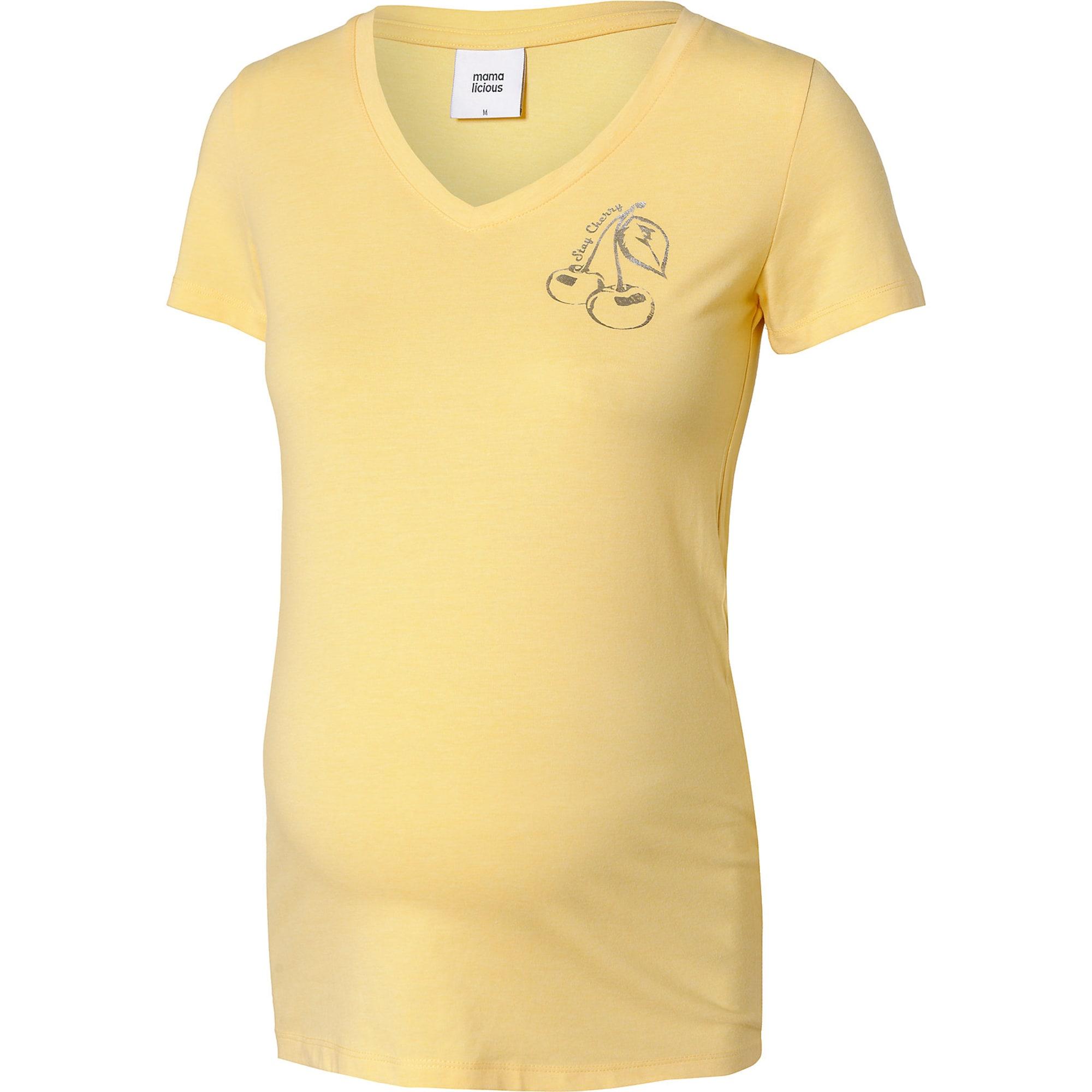 Umstandsshirt 'MLCherry' | Bekleidung > Umstandsmode > Umstandsshirts | Gelb | Mamalicious