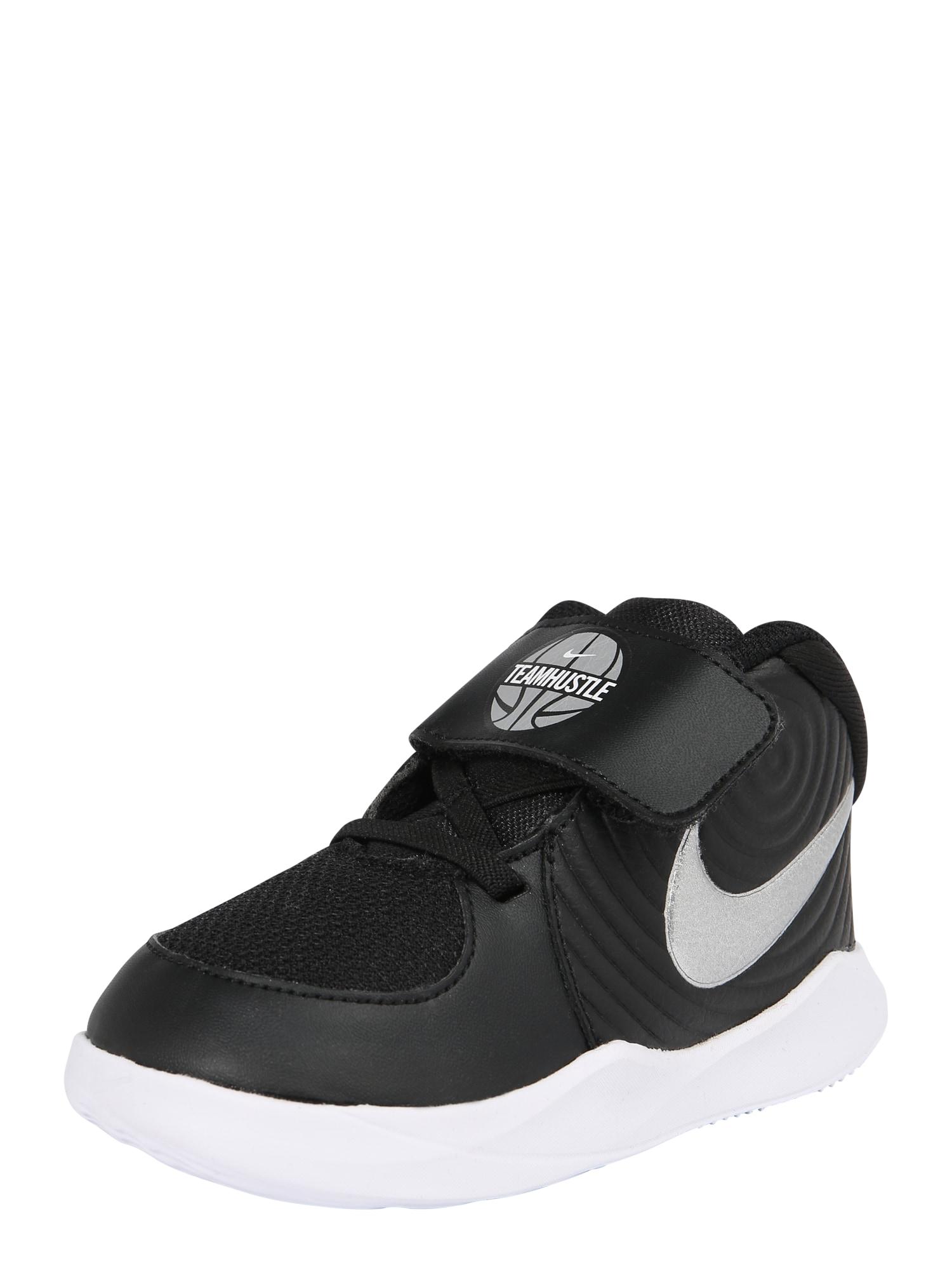 Sportovní boty TEAM HUSTLE D 9 (TD) černá bílá NIKE