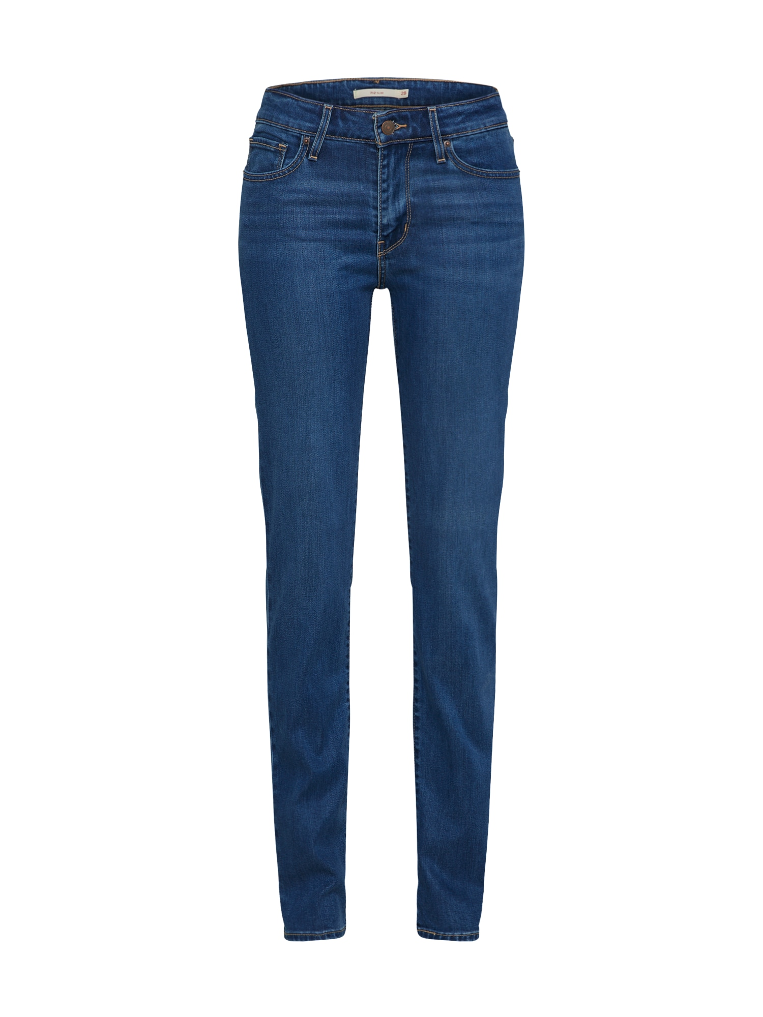 LEVI'S Dames Jeans 712 donkerblauw