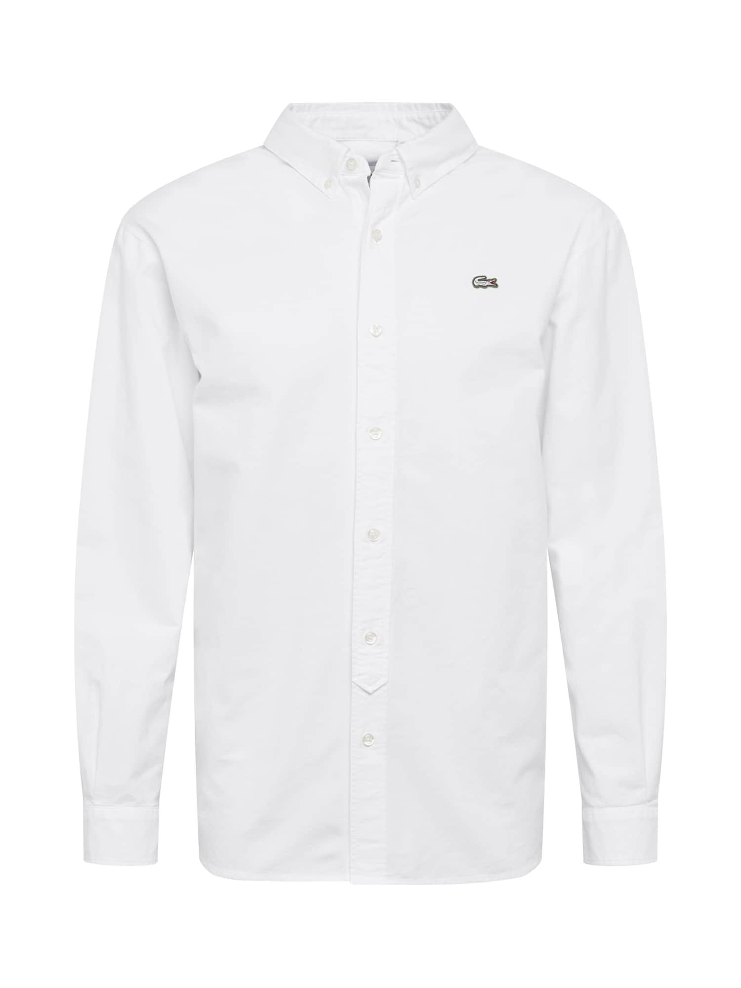 Společenská košile CHEMISE MANCHES LONGUES bílá Lacoste LIVE