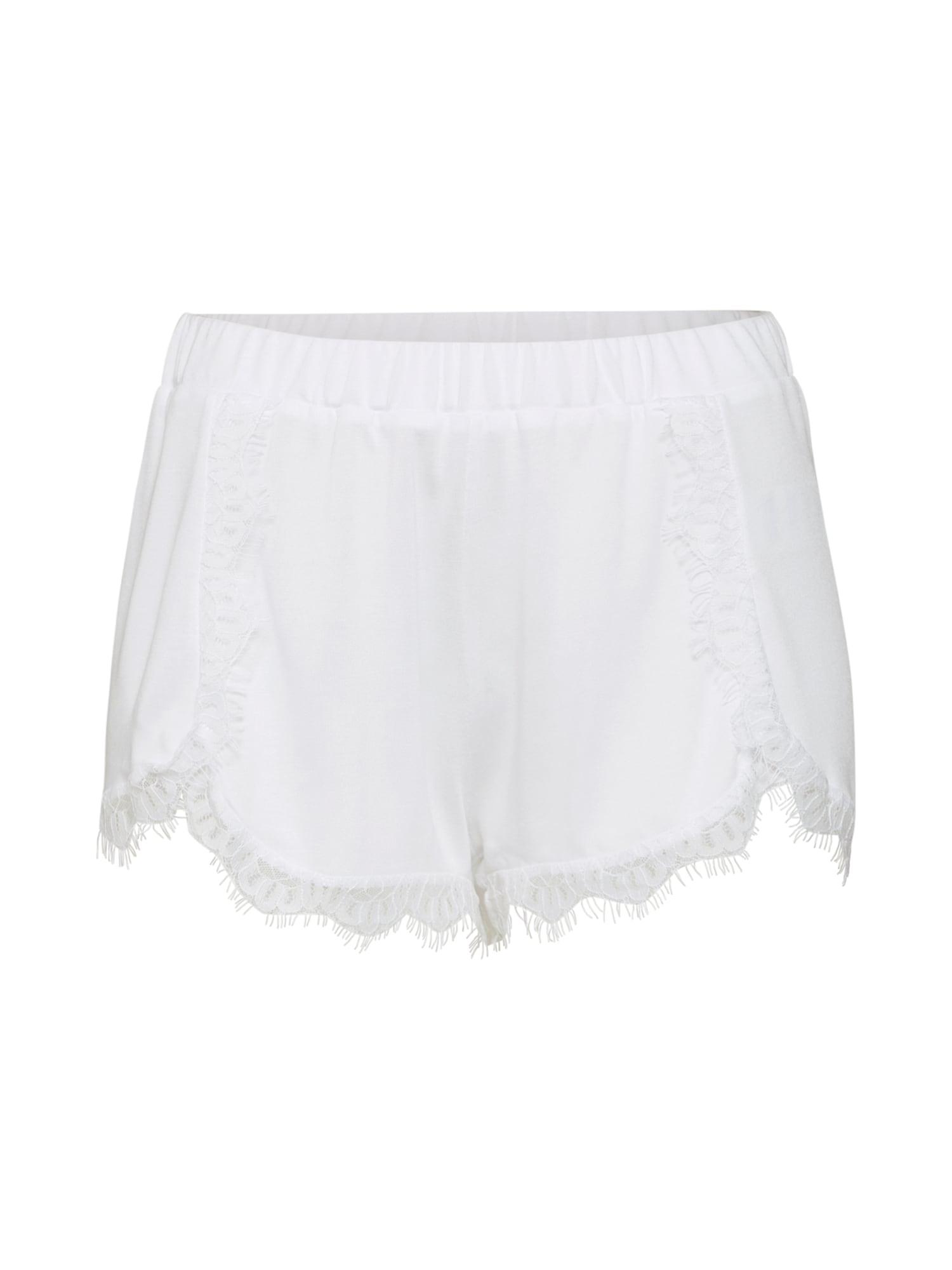 Kalhoty Overlapped Lace Detailed Shorts bílá NA-KD