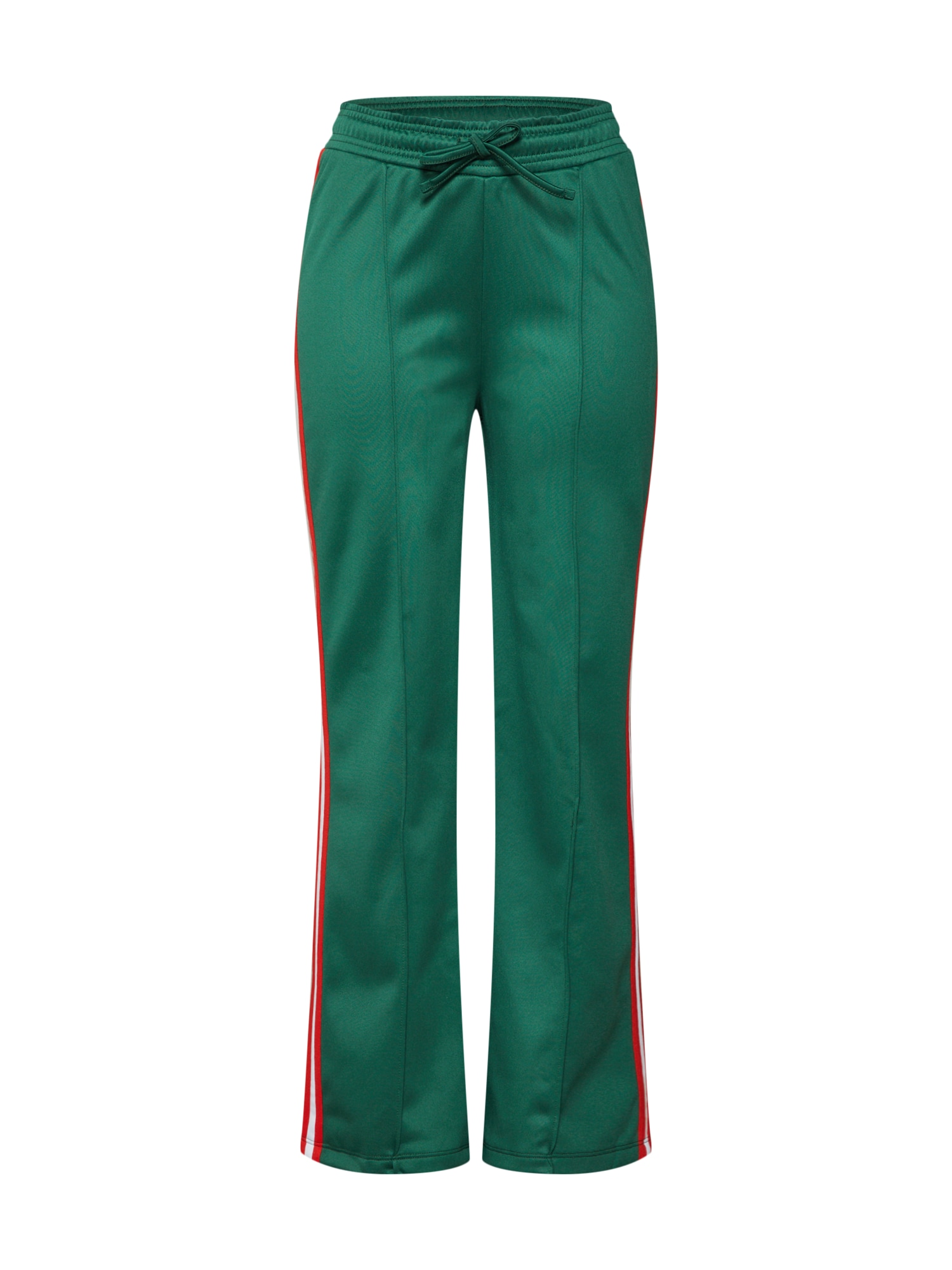 Kalhoty striped wide pants zelená NA-KD