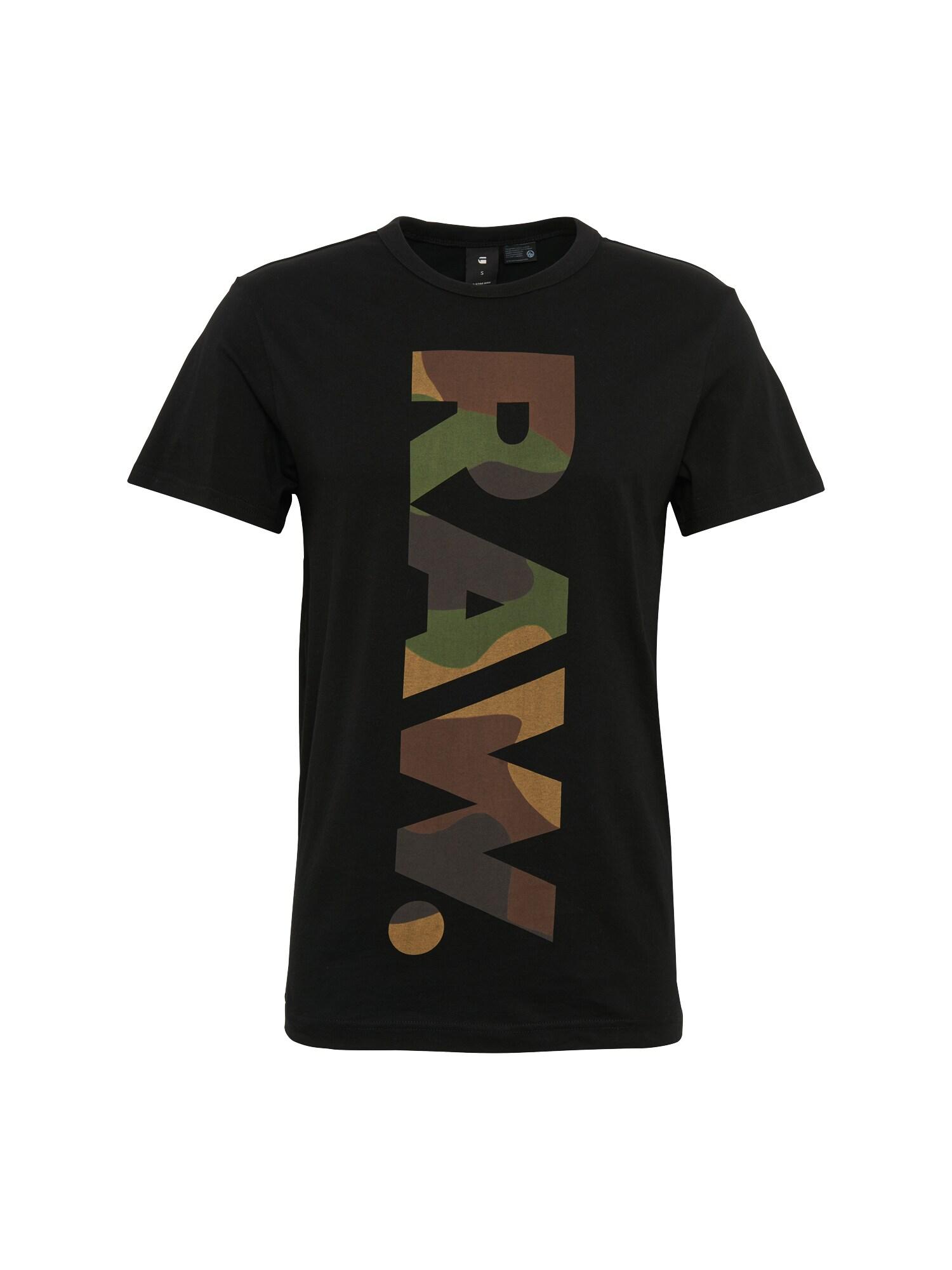 G-STAR RAW Heren Shirt Daba regular r t s s zwart