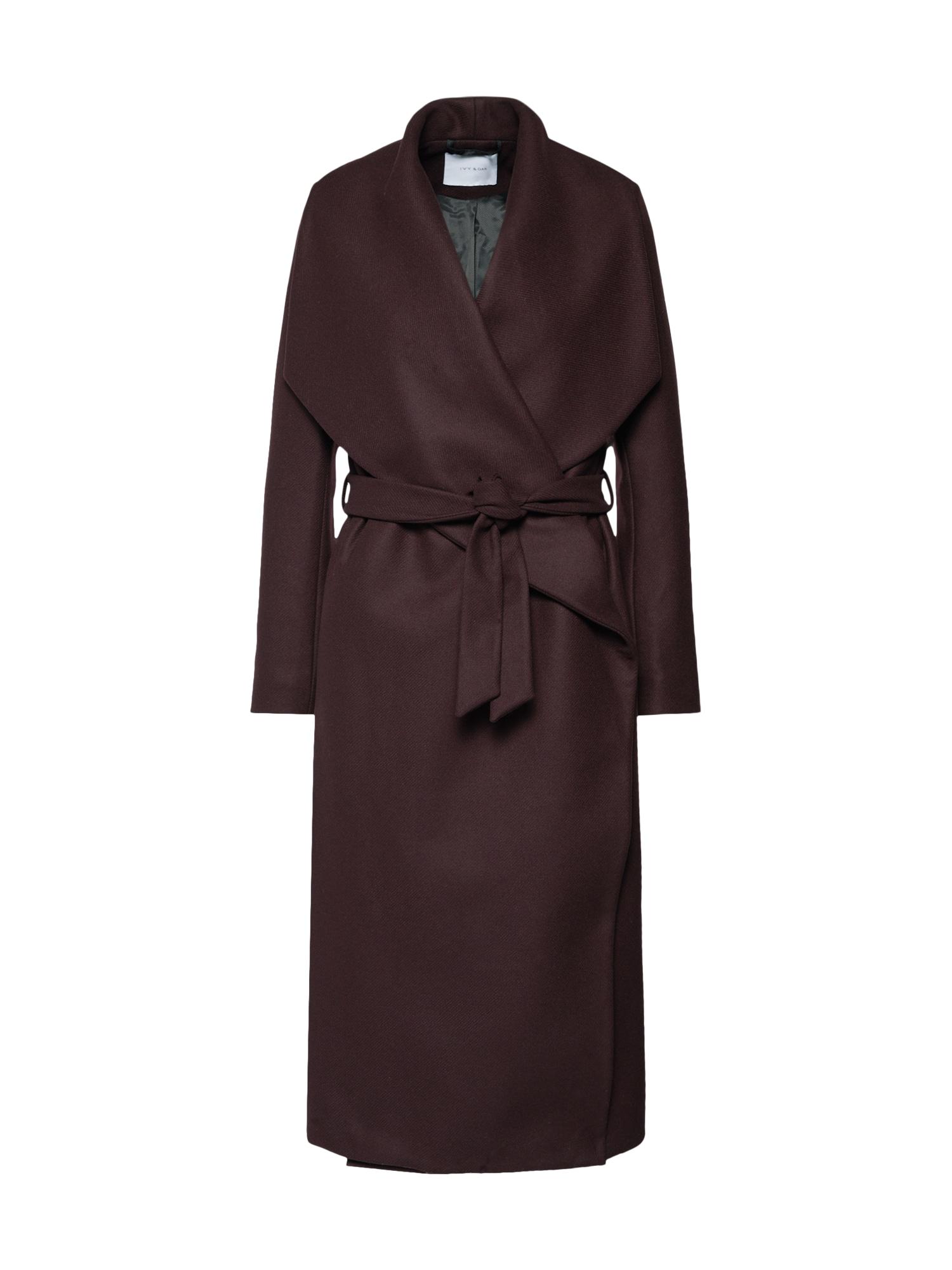 Přechodný kabát Bathrobe Coat lilek IVY & OAK