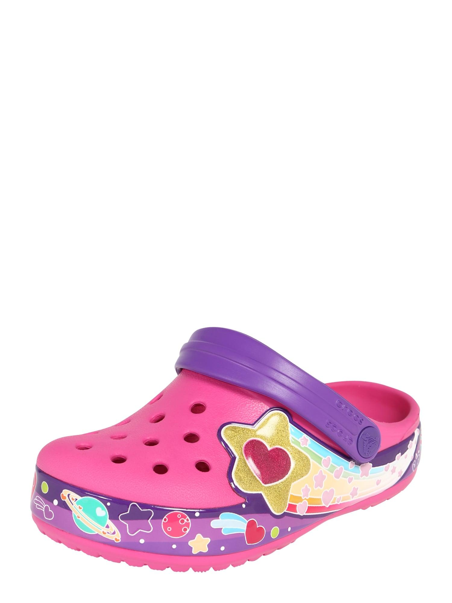Polobotky Galactic Hearts fuchsiová Crocs