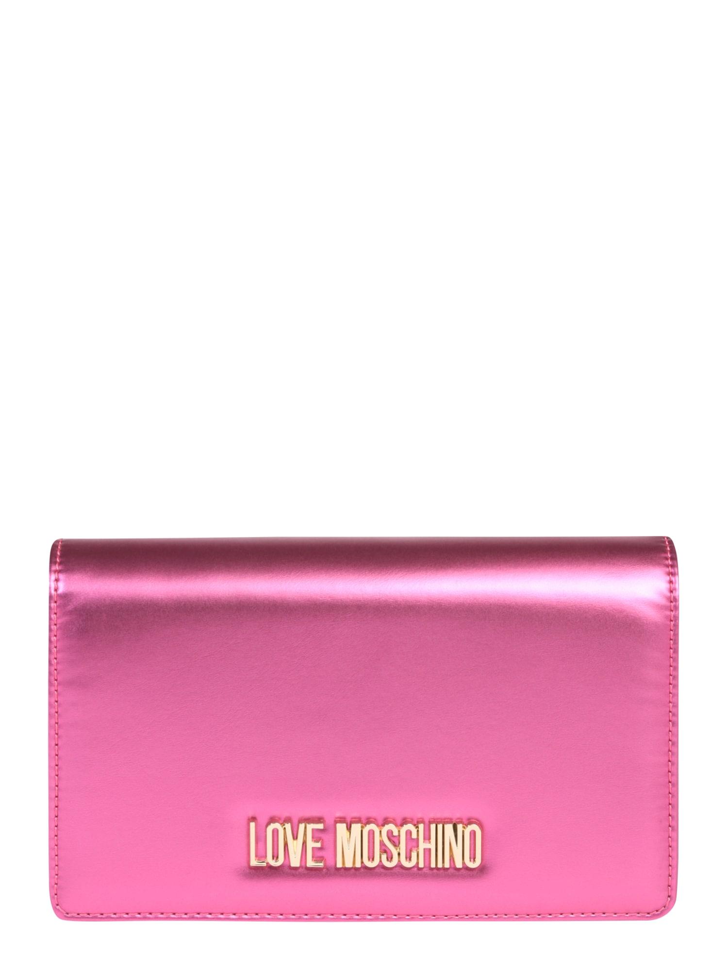 Taška přes rameno BORSA METALLIC PU NERO fuchsiová Love Moschino