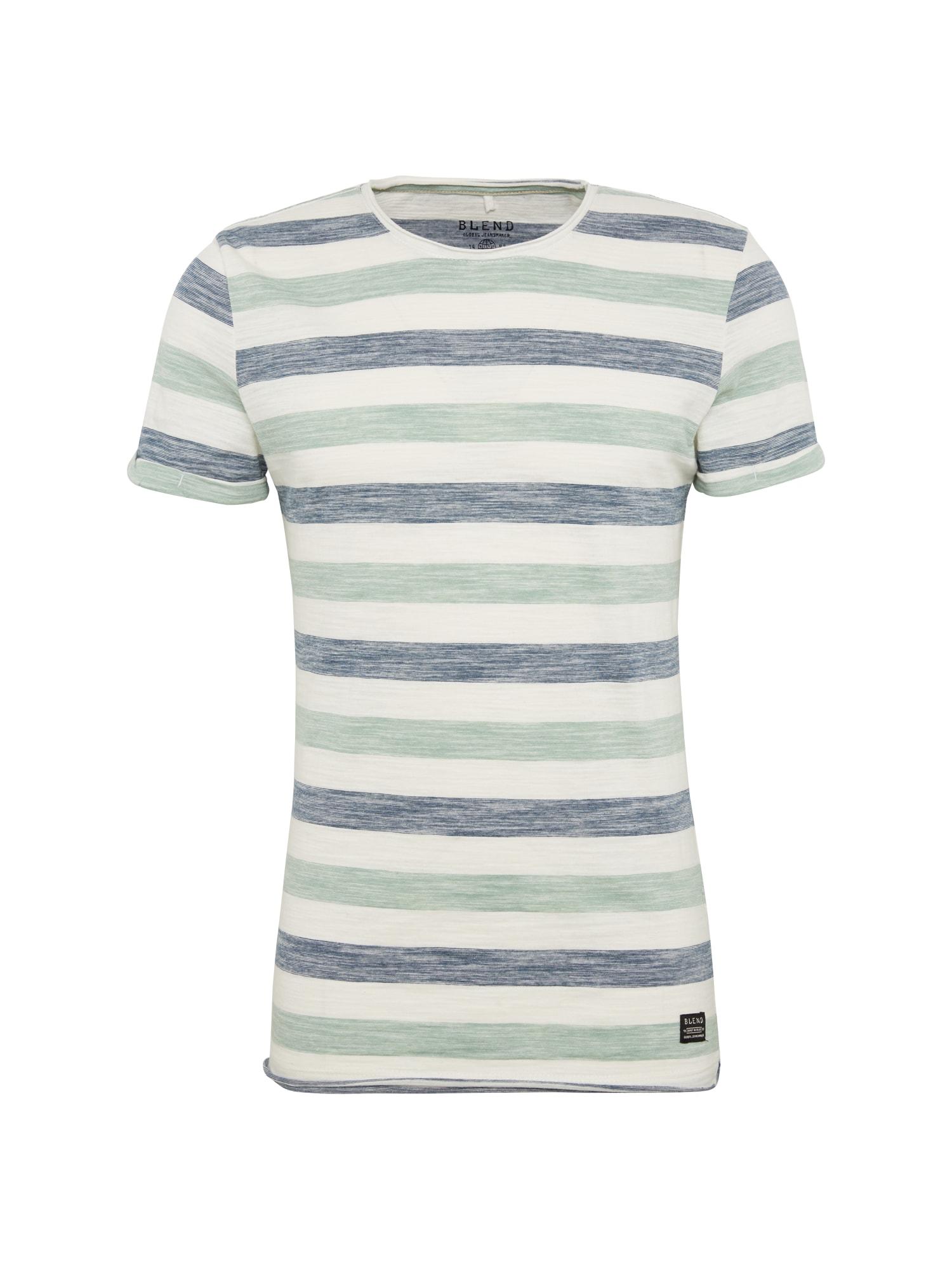 Tričko chladná modrá mátová bílá BLEND