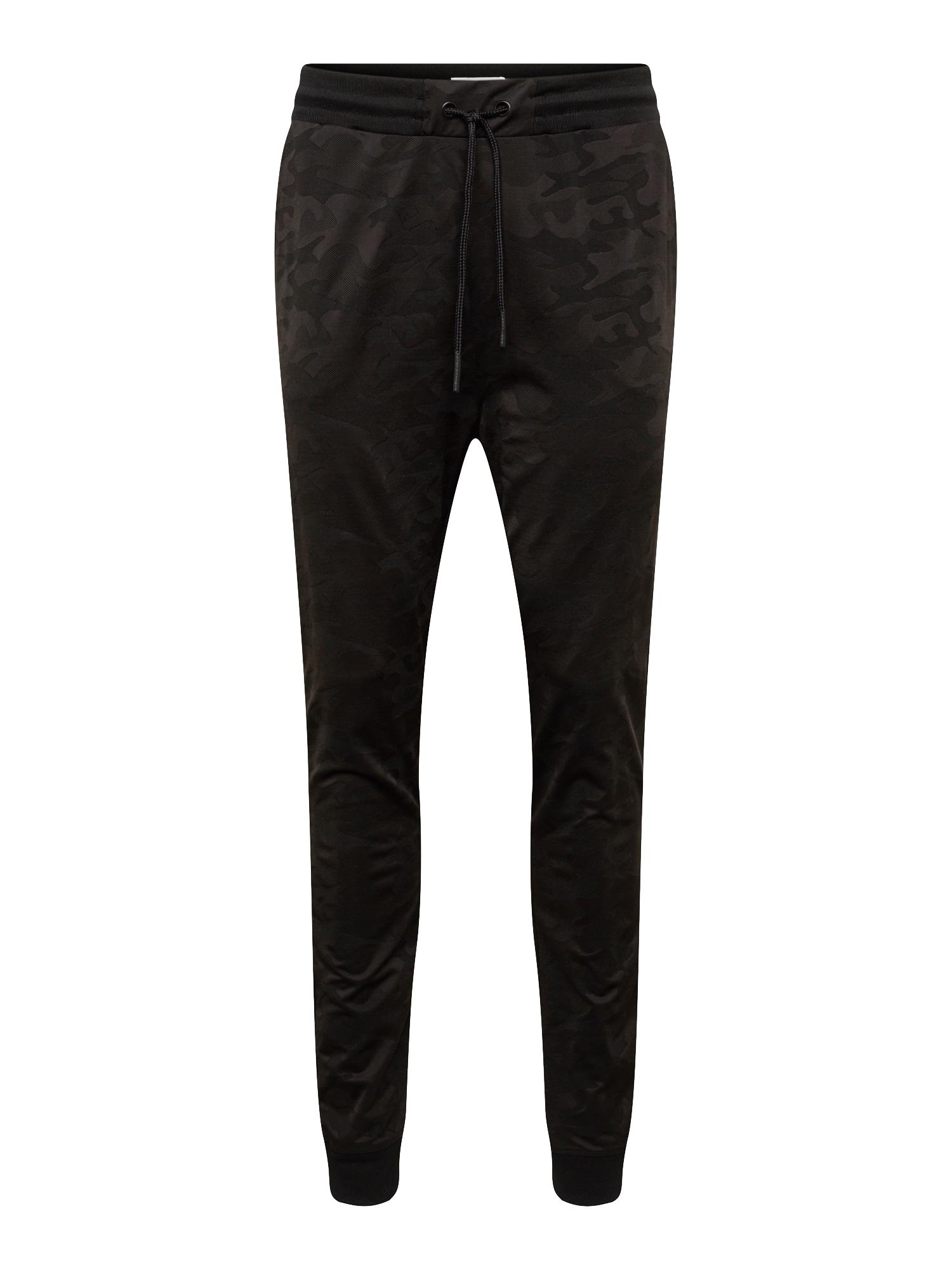 Kalhoty TONE ON TONE CAMO černá YOURTURN