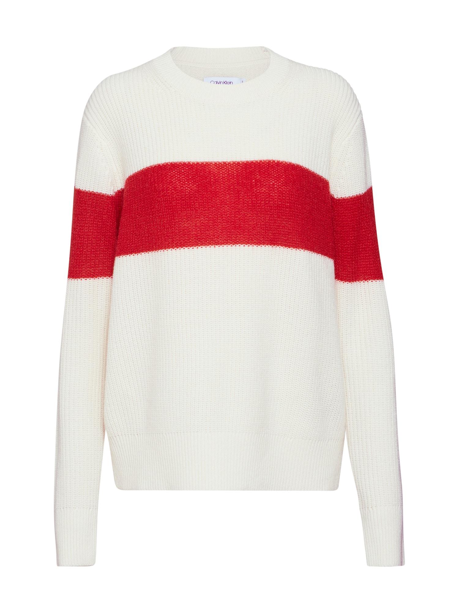 Svetr krémová červená Calvin Klein