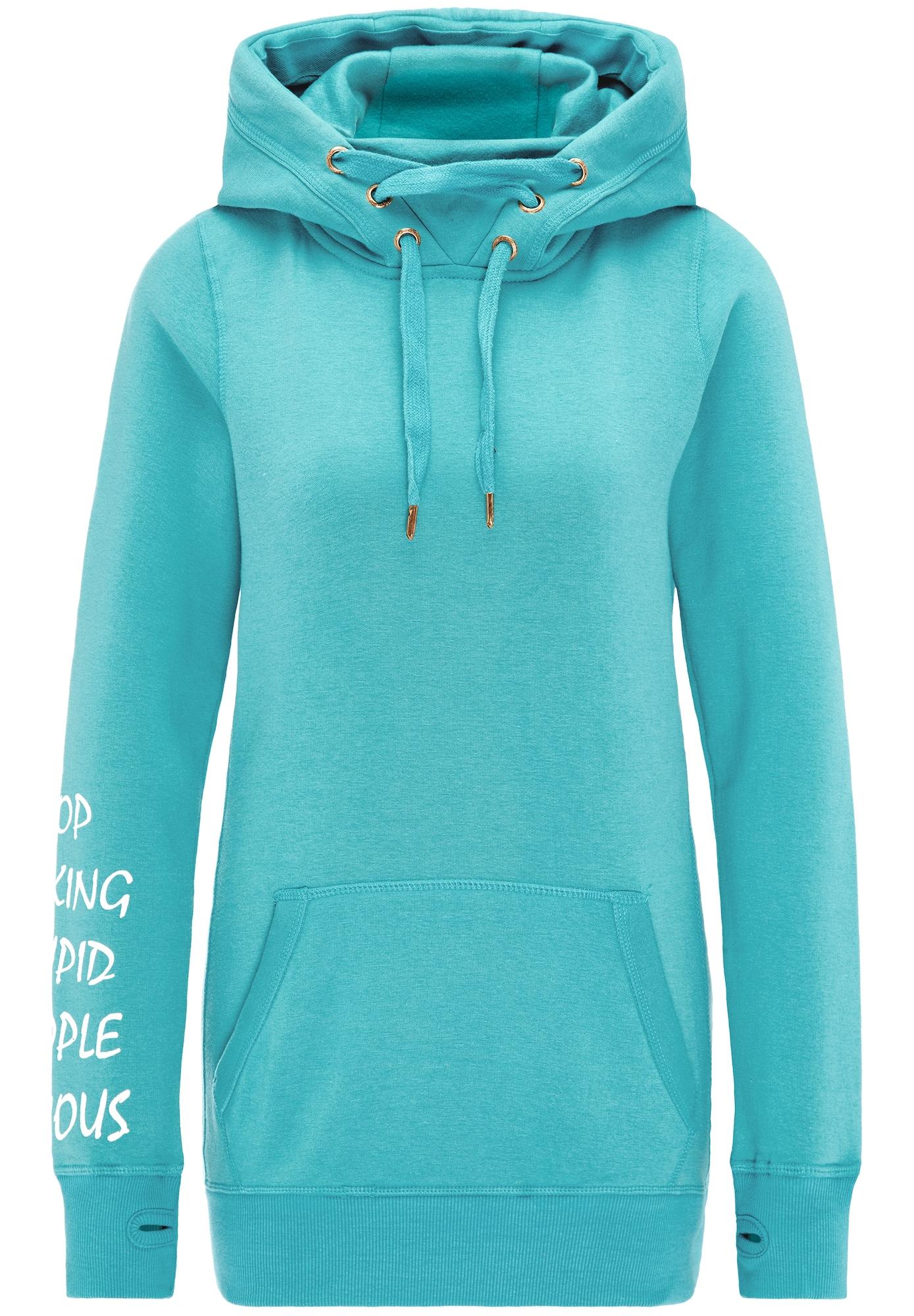 MYMO, Dames Sweatshirt, lichtblauw / wit