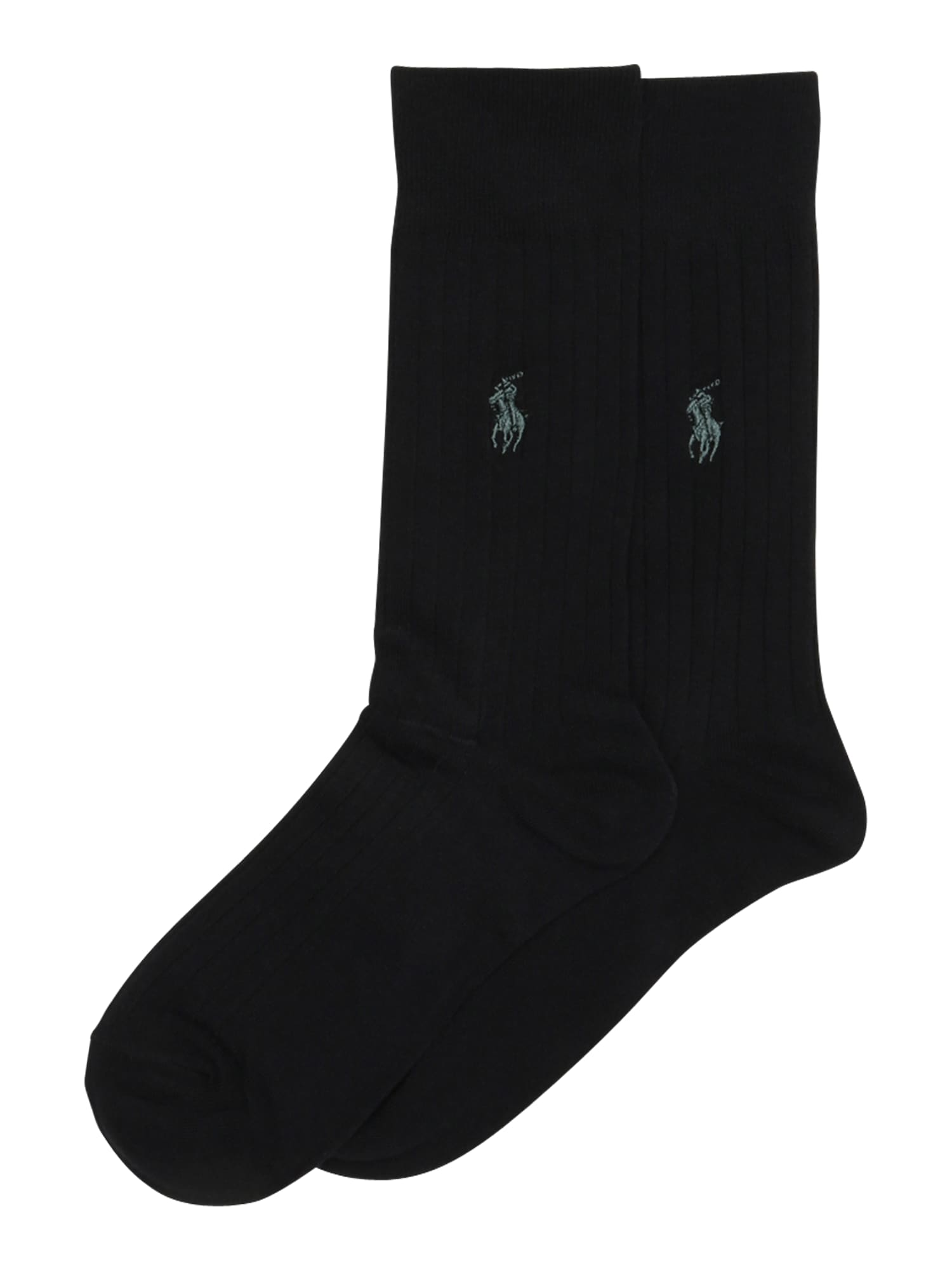Ponožky RIB EGYPTIAN-SOCKS-2 PACK černá POLO RALPH LAUREN