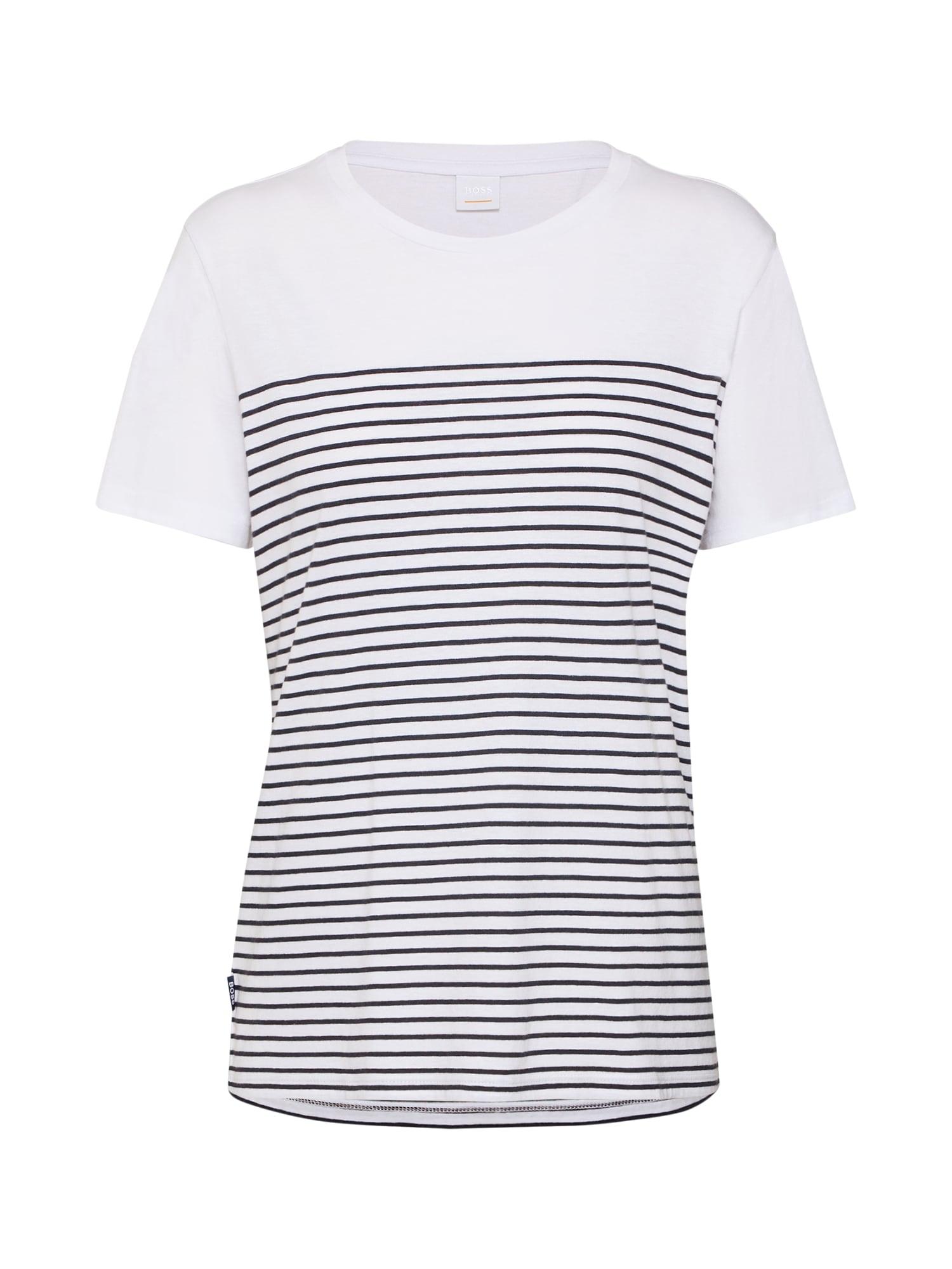 Tričko Tefresh modrá bílá BOSS