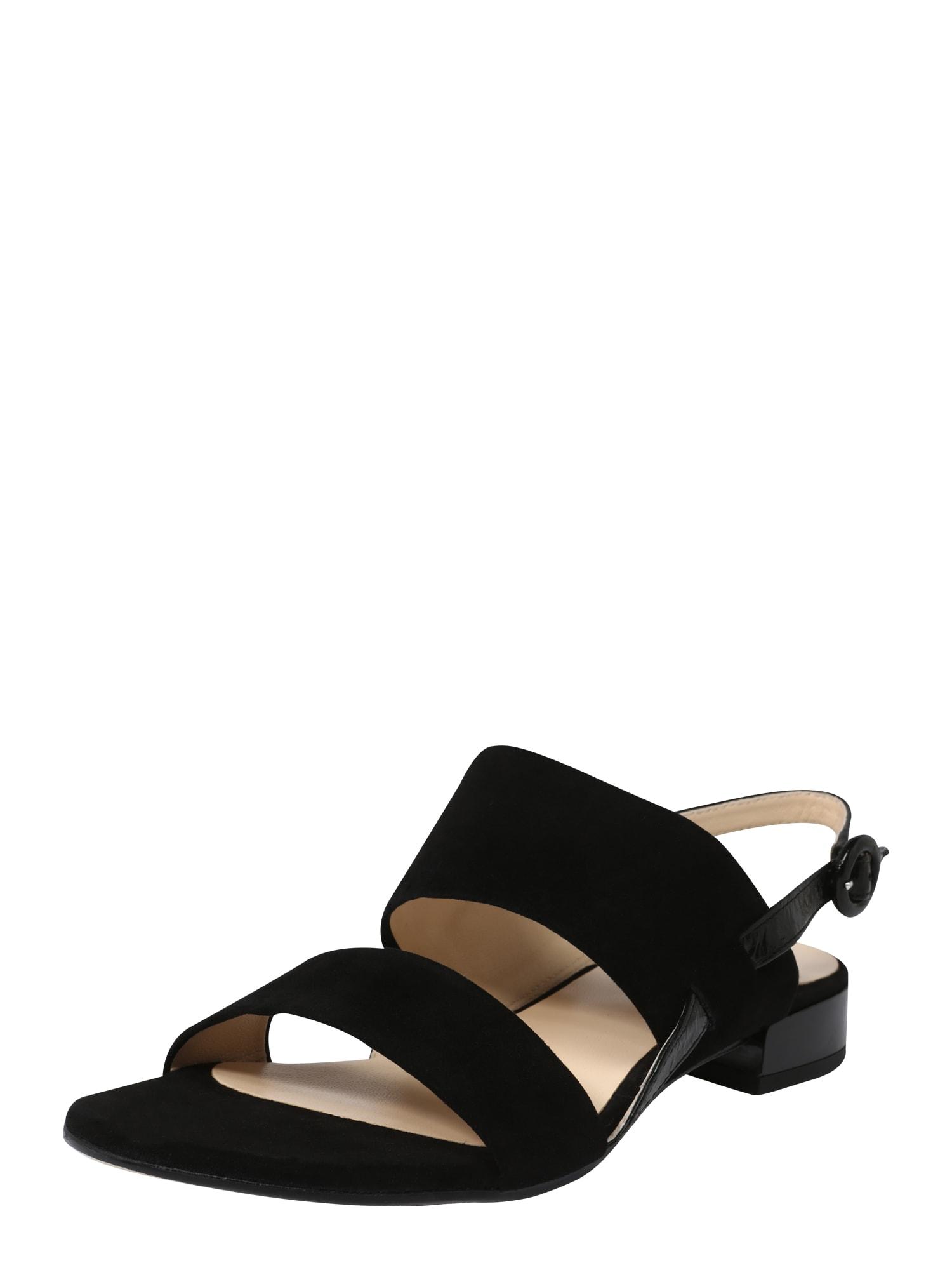 Páskové sandály Sandale Velours černá Högl