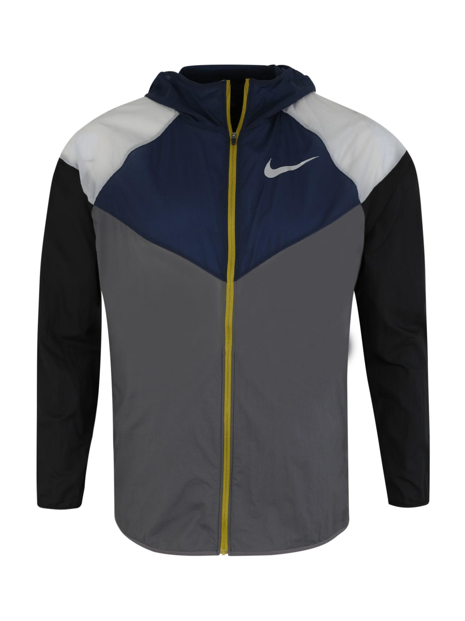 Sportovní bunda WINDRUNNER tmavě modrá tmavě šedá NIKE
