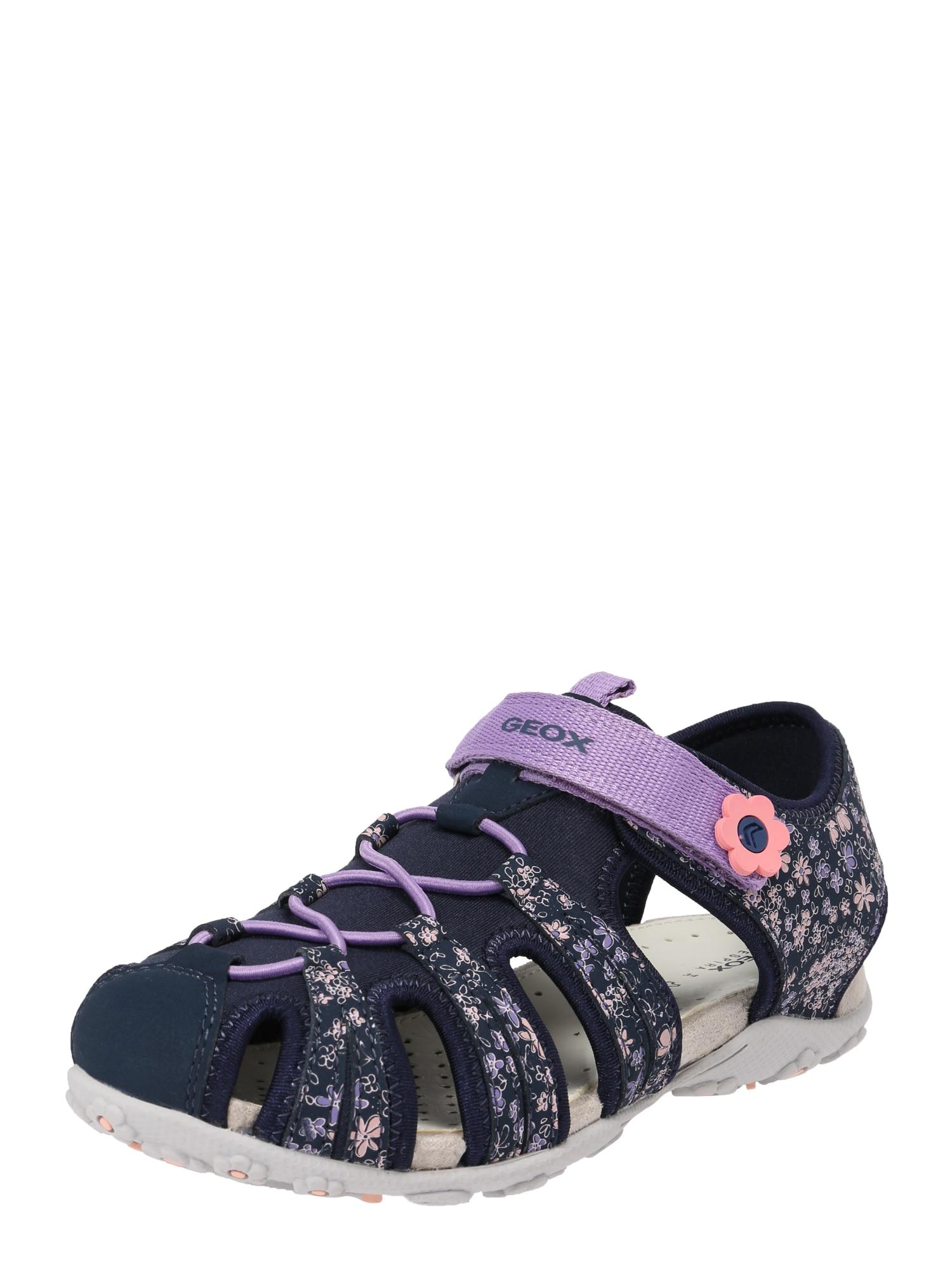 Sandály Roxanne námořnická modř fialová GEOX
