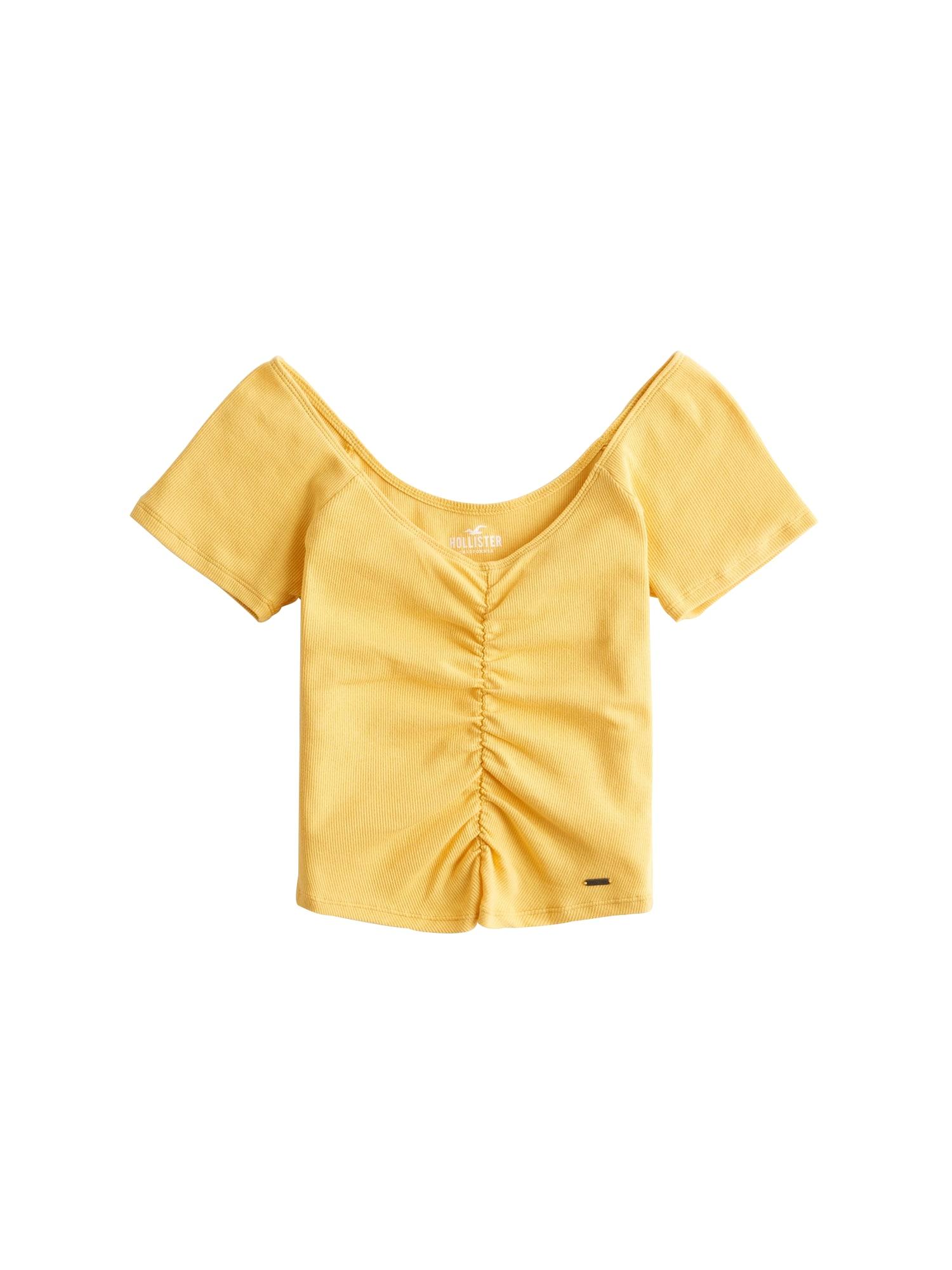 Tričko žlutá HOLLISTER