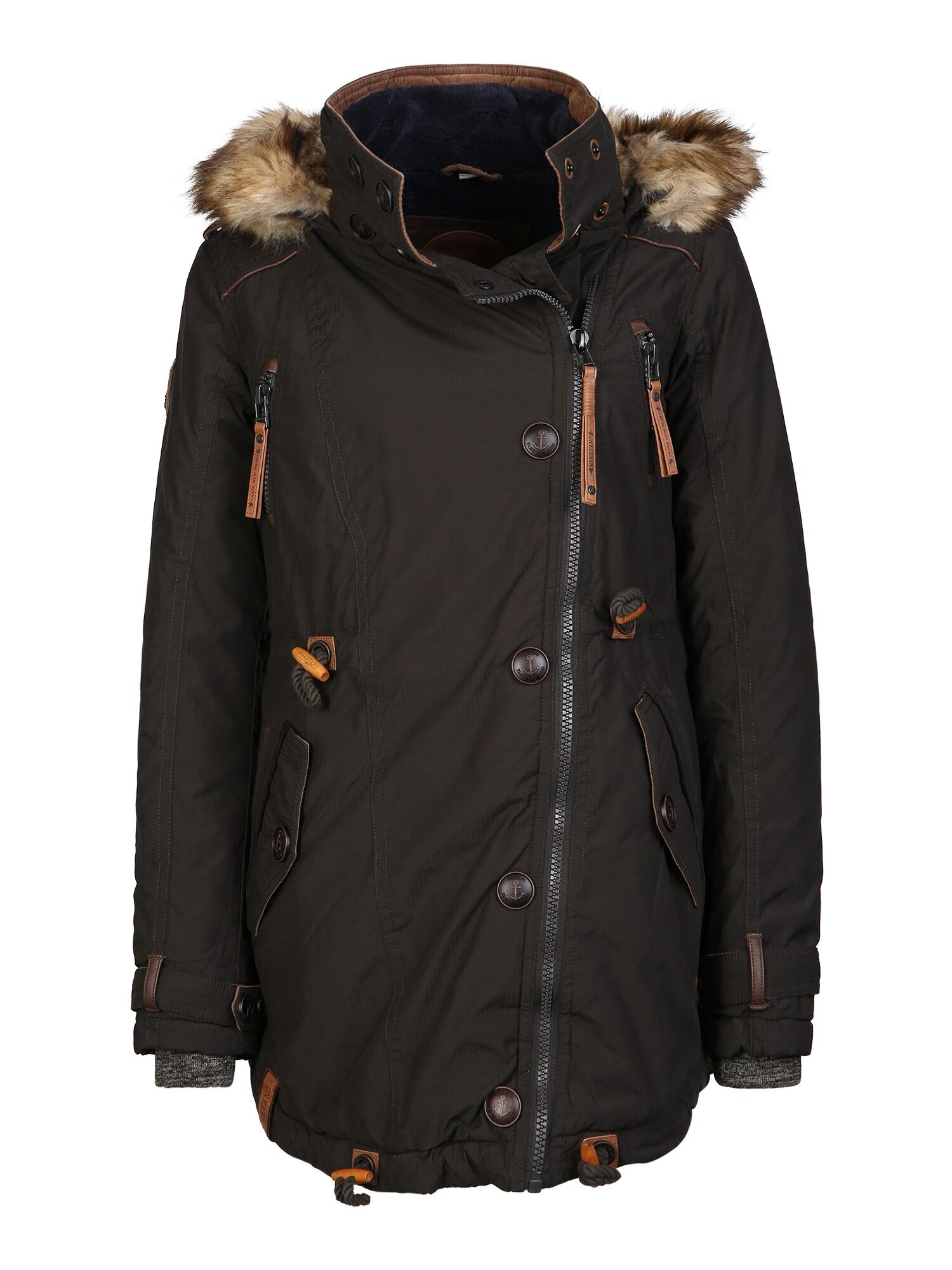 Zimní kabát Sissimuschi tmavě hnědá Naketano