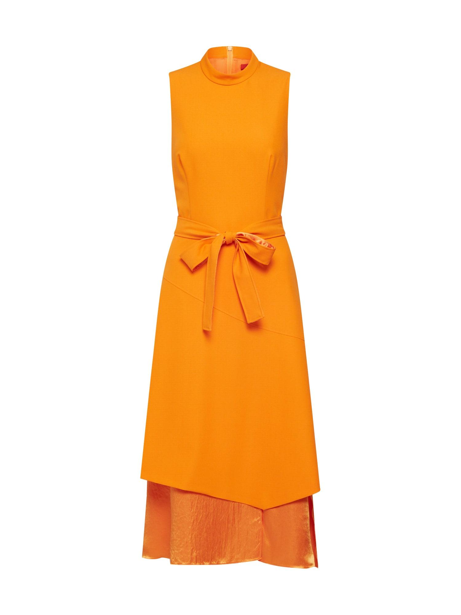 Letní šaty Kethea oranžová HUGO