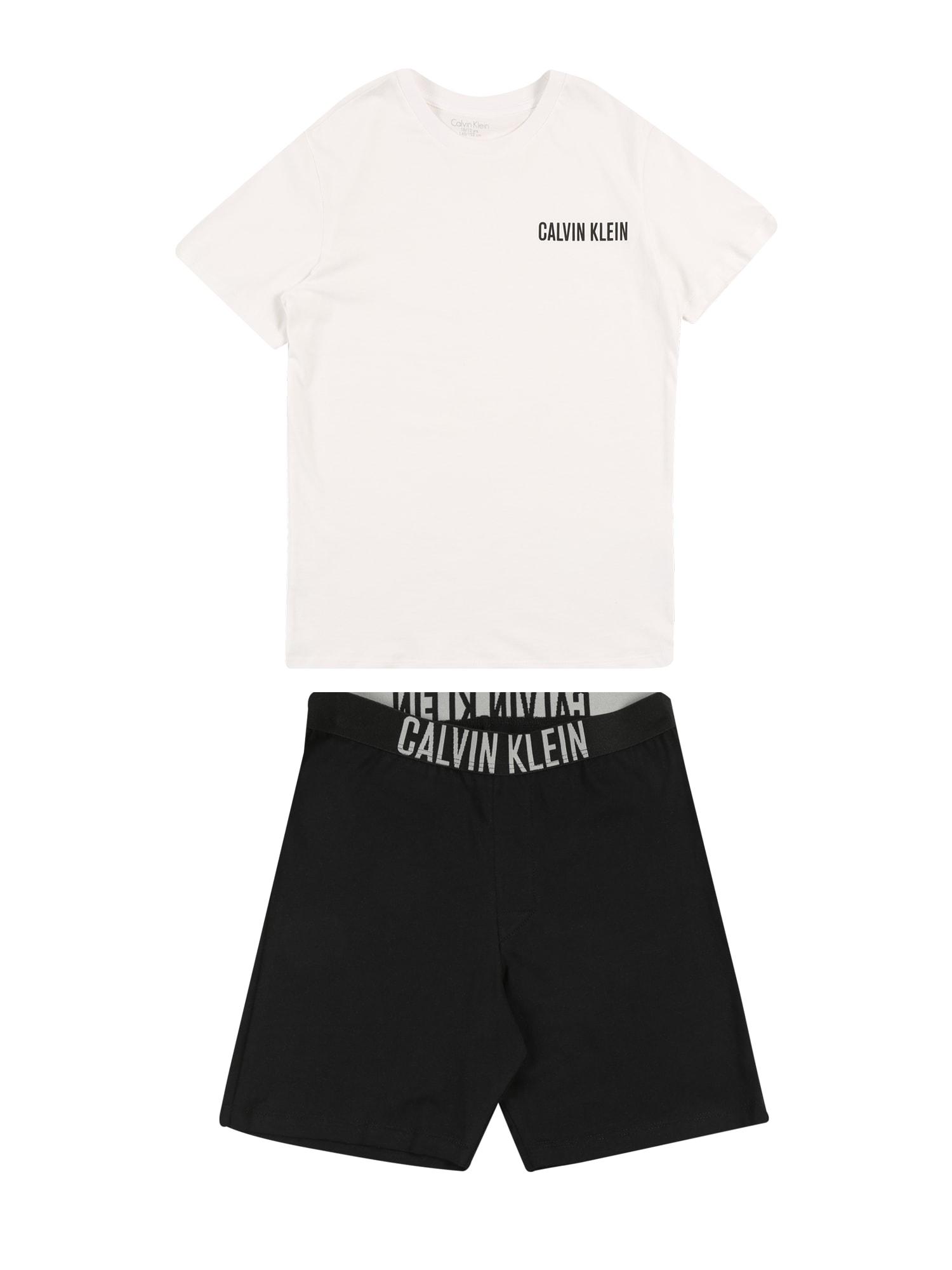 Pyžamo černá bílá Calvin Klein Underwear