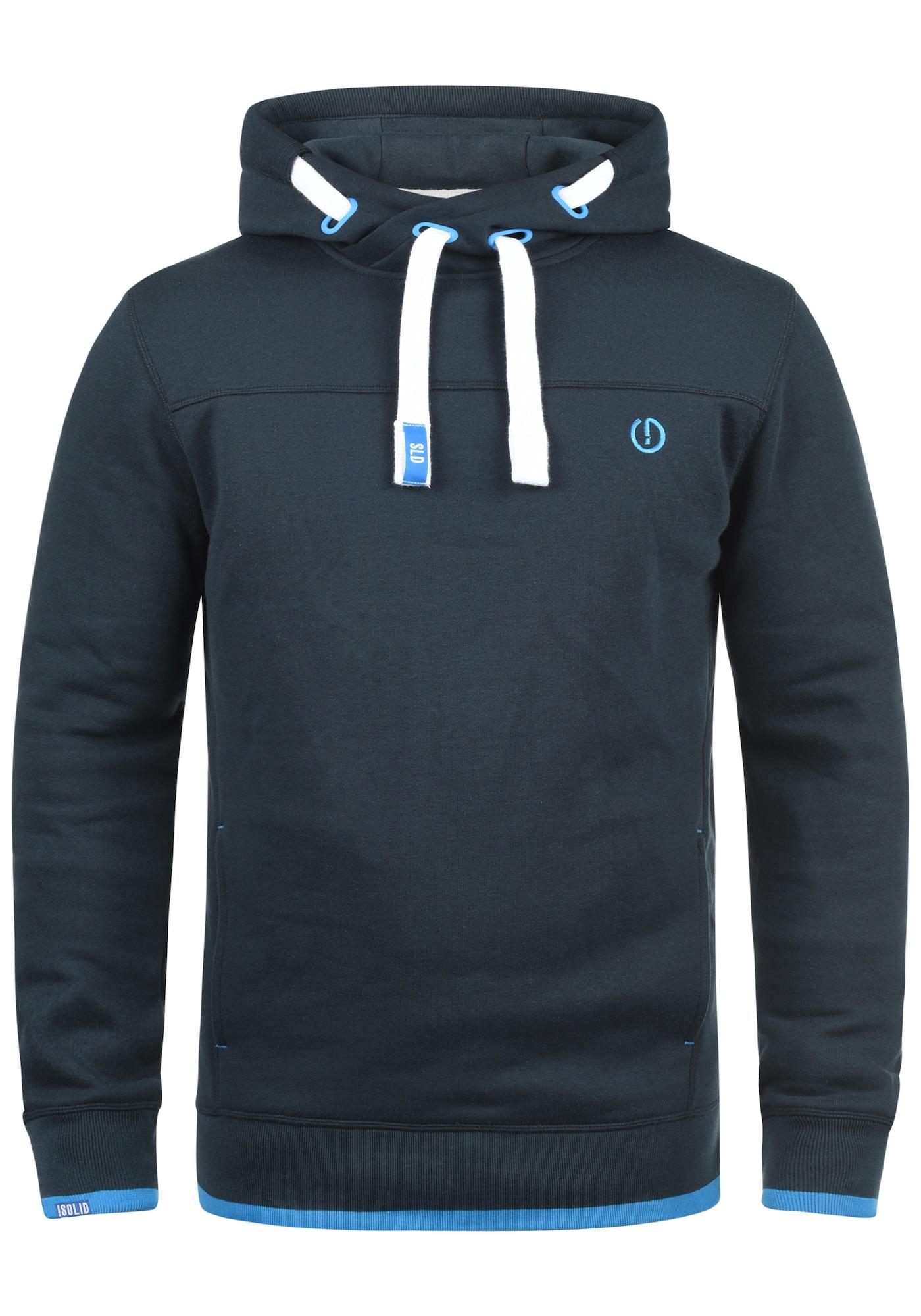 Hoodie 'Benjamin Hood' | Bekleidung > Pullover > Kapuzenpullover | Blau | !solid
