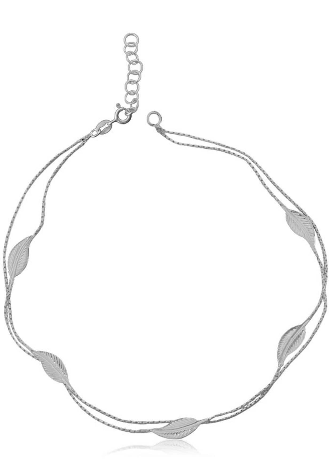 Fußkette 'Blätter' | Schmuck > Fußschmuck > Fußkettchen | Silber | FIRETTI