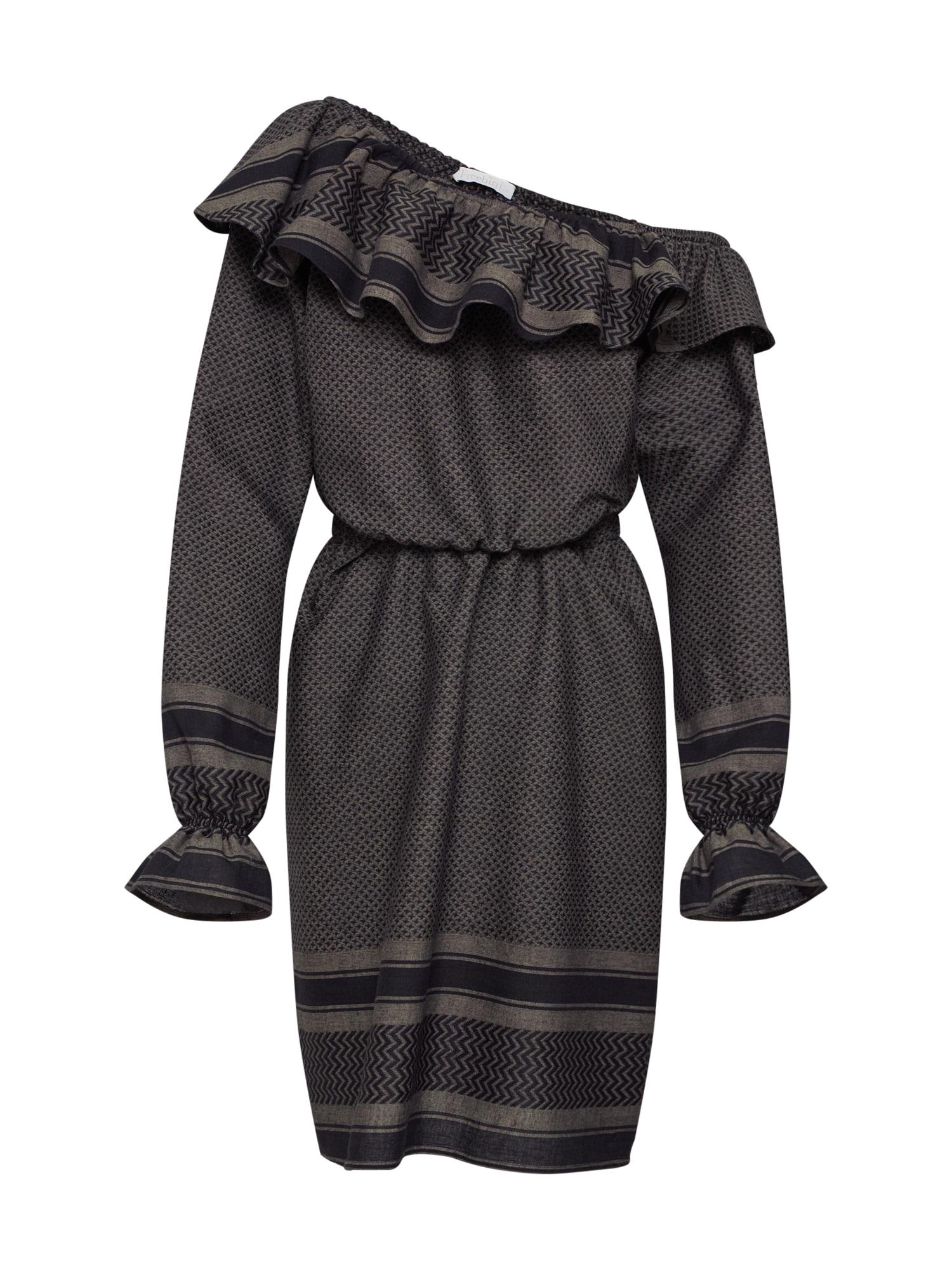 Šaty olivová černá Freebird