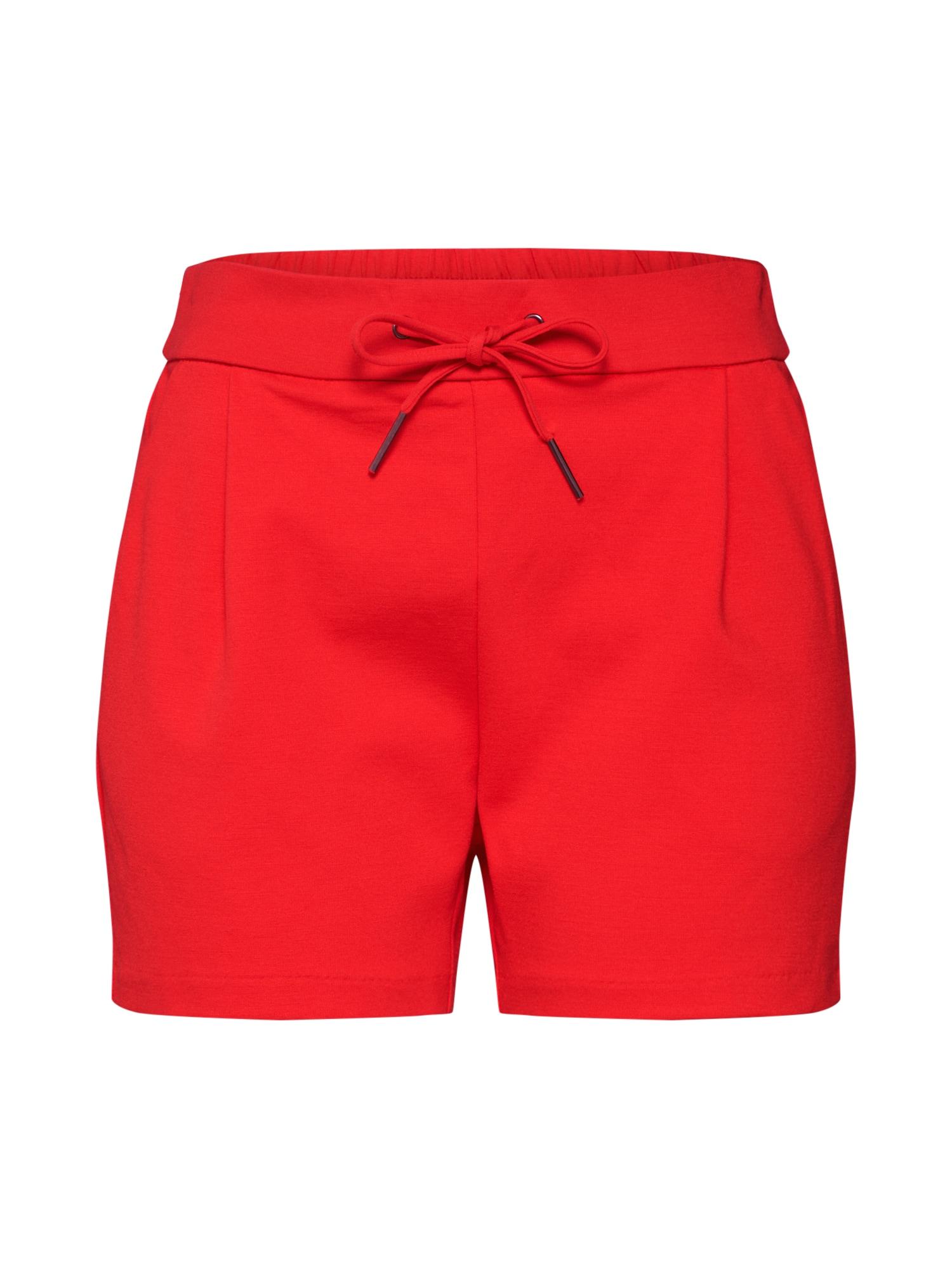 Kalhoty se sklady v pase VMEVA ohnivá červená VERO MODA