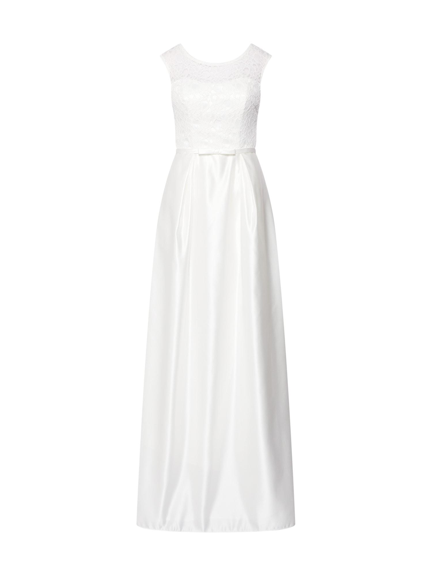 Společenské šaty perlově bílá STAR NIGHT